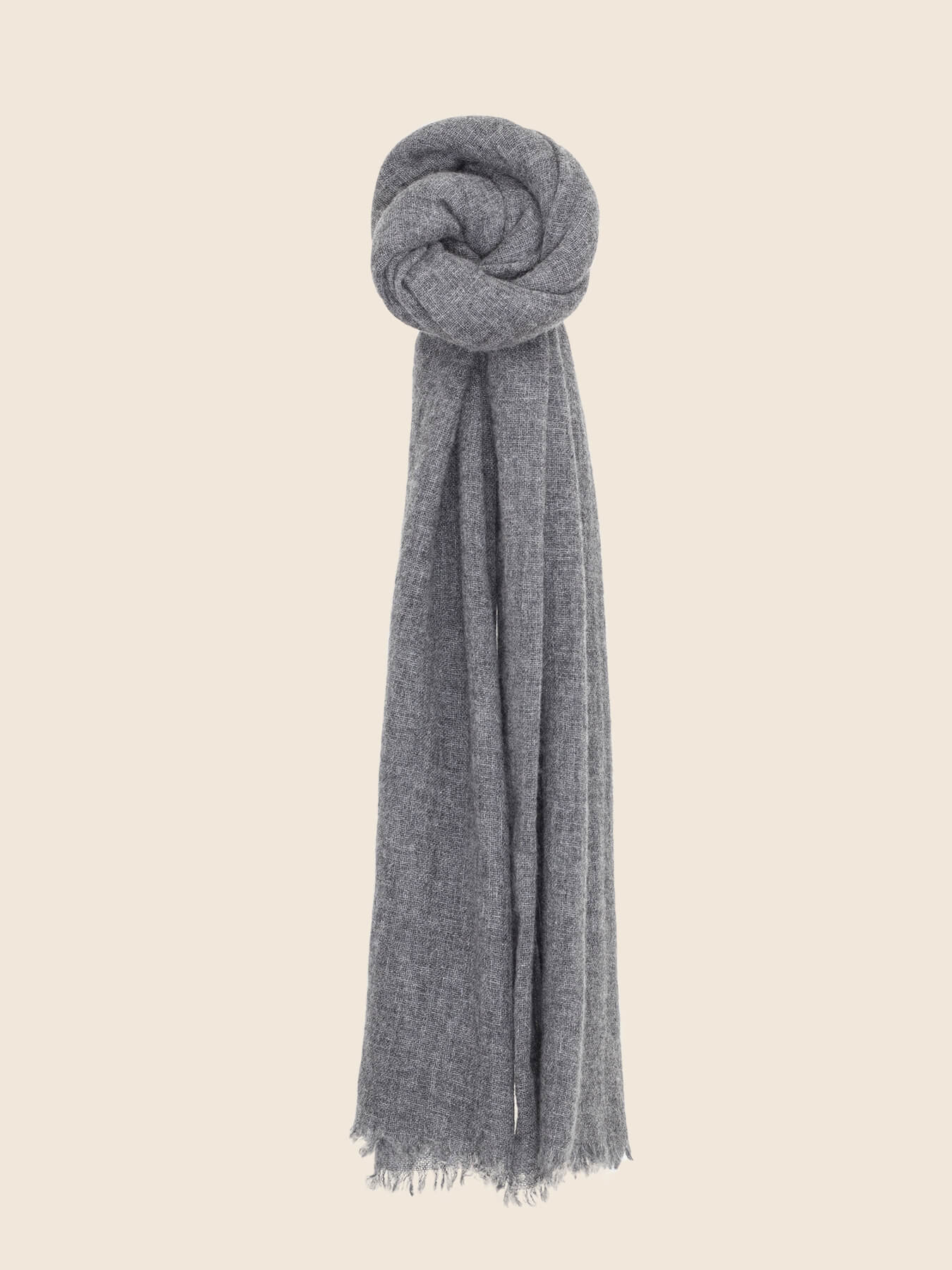 Airy Cashmere Shawl Charcoal 1