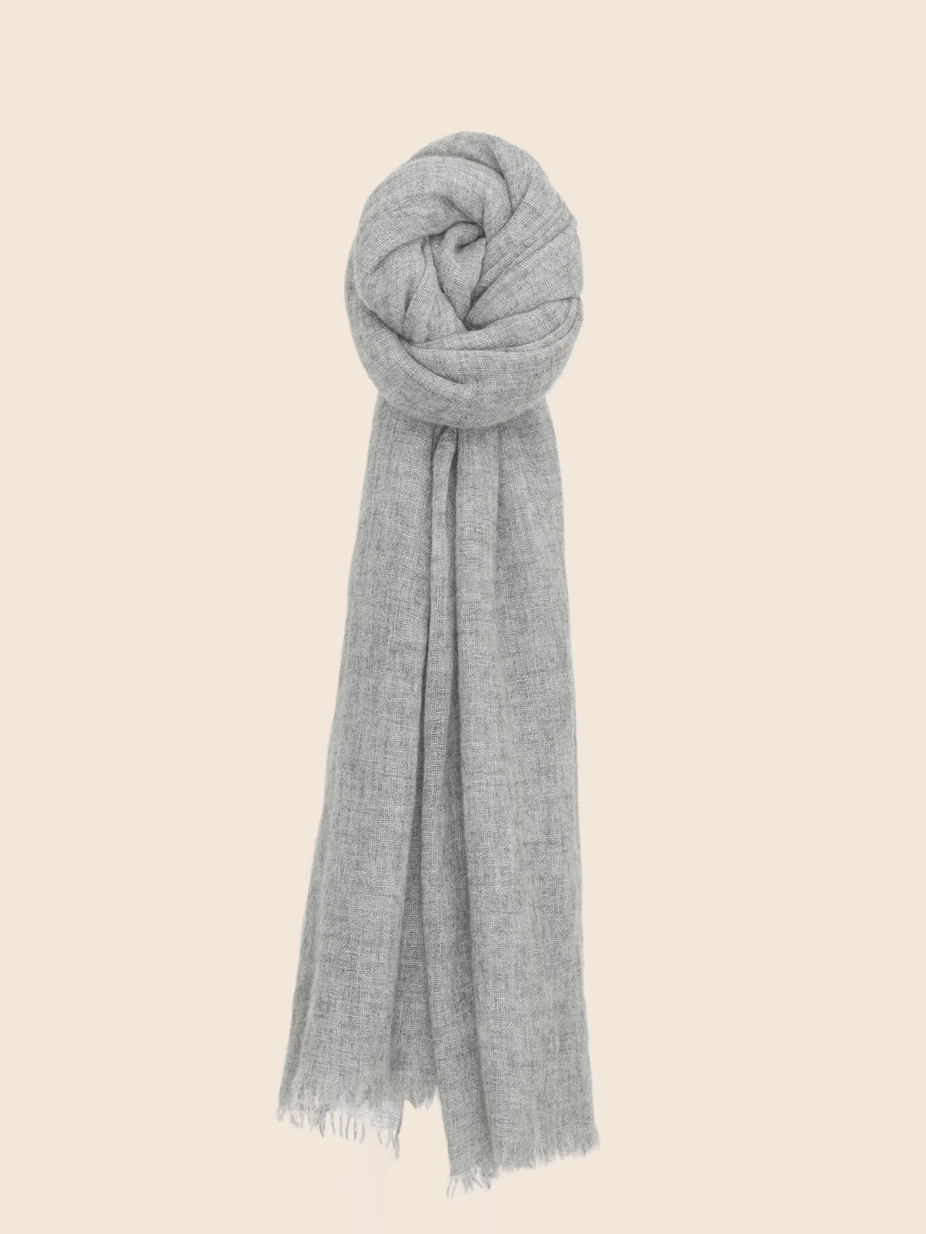 Airy Cashmere Shawl Grey 1