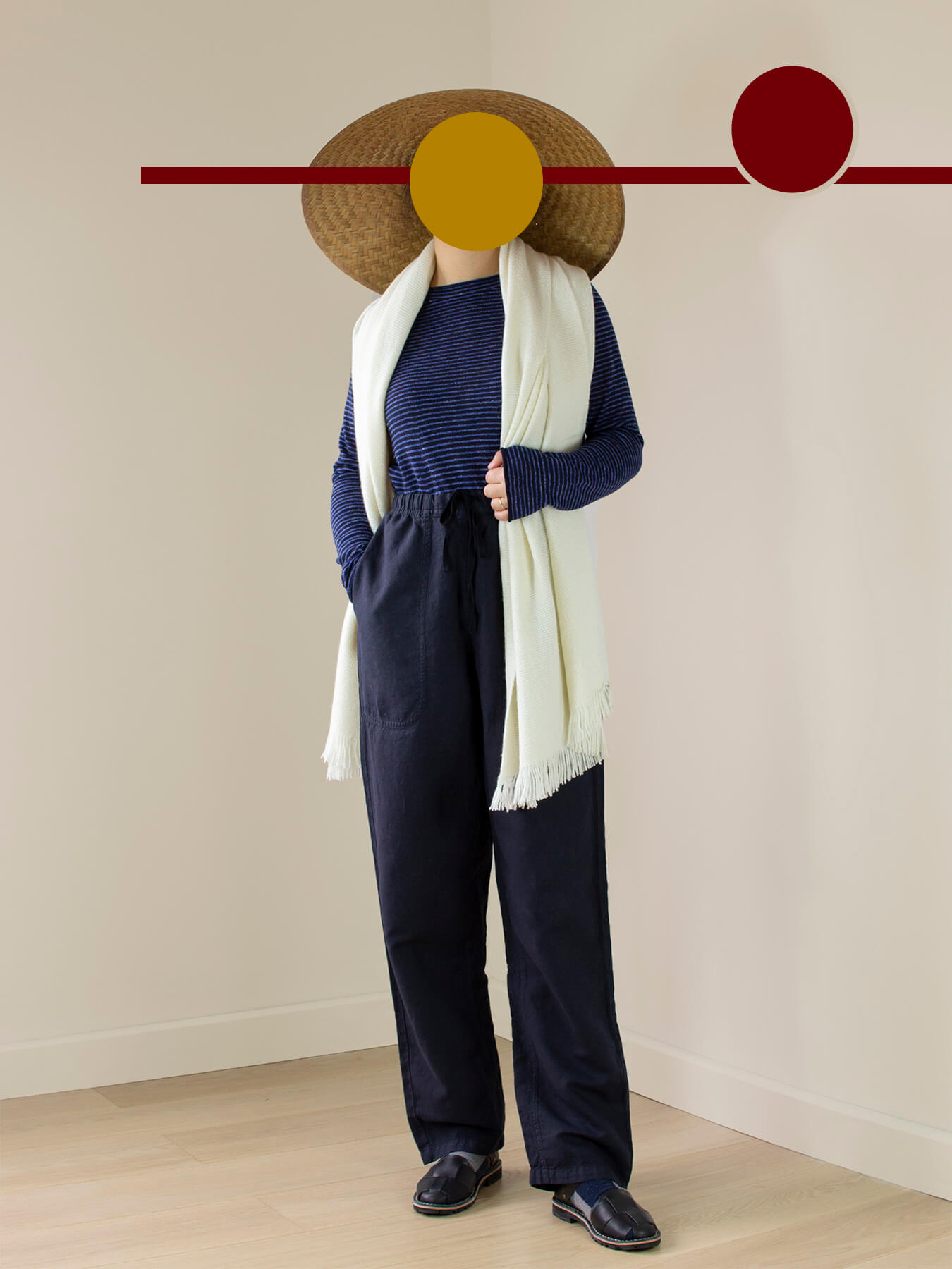 Classic Knitted Cashmere Scarf Ivory