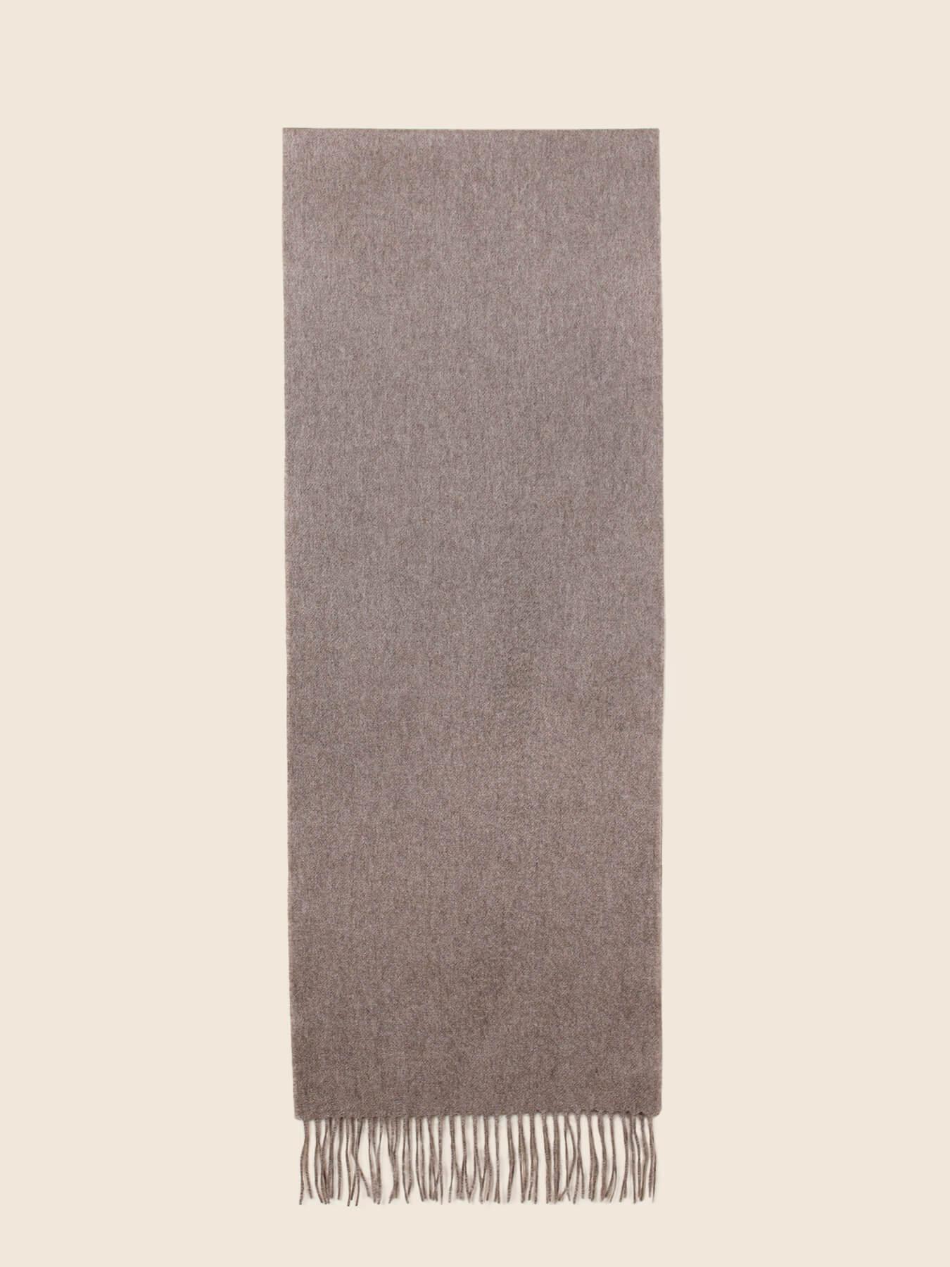 Classic Plain Cashmere Scarf Cedar 2