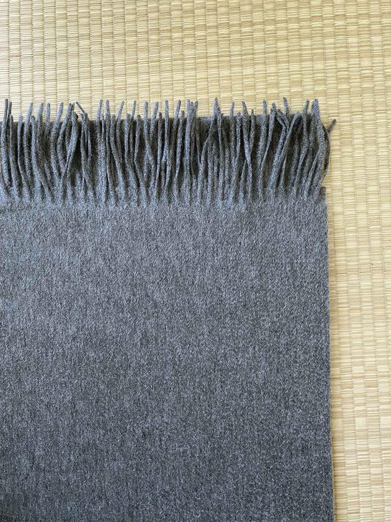 Classic Plain Cashmere Scarf Charcoal 3