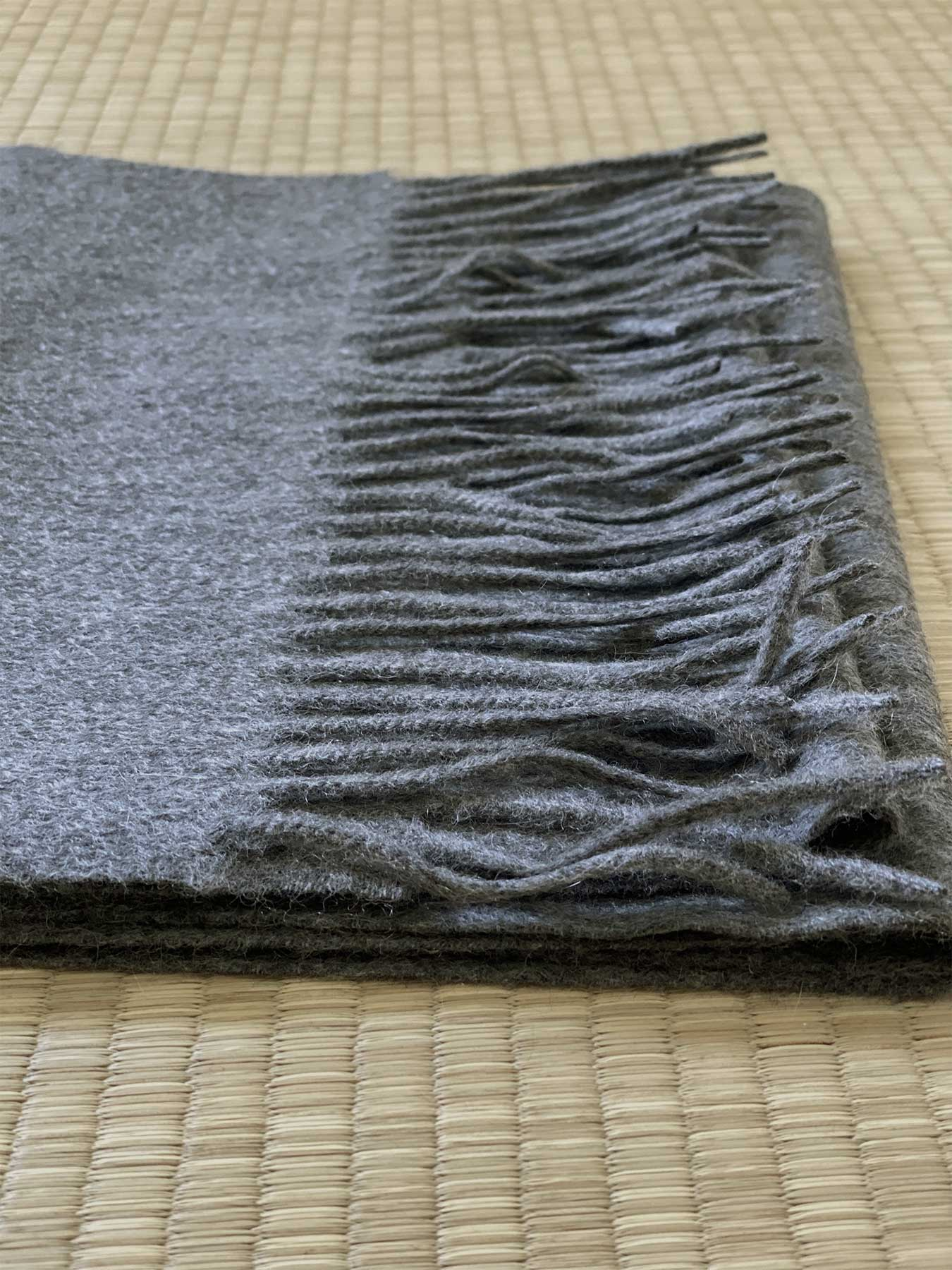 Classic Plain Cashmere Scarf Charcoal 5