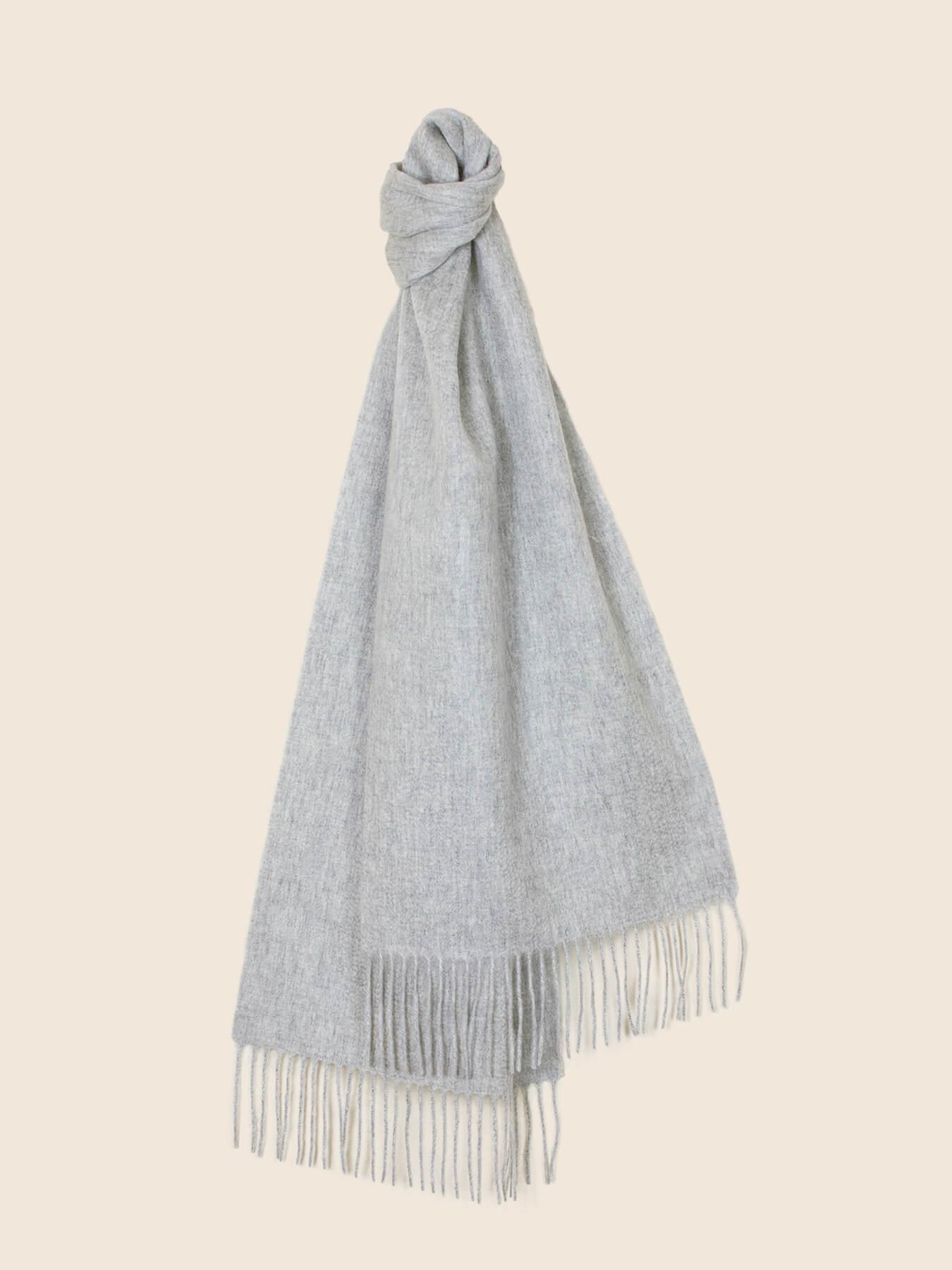 Classic Plain Cashmere Scarf Fog Grey 1