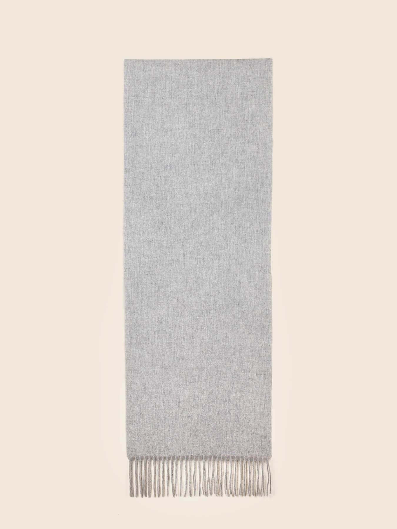Classic Plain Cashmere Scarf Fog Grey 2
