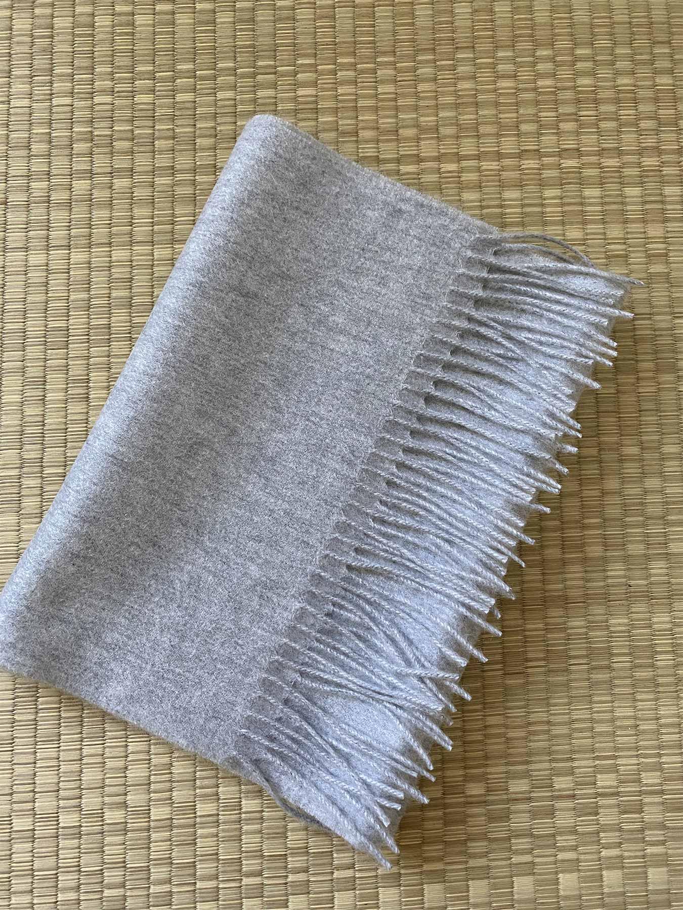 Classic Plain Cashmere Scarf Fog Grey 4