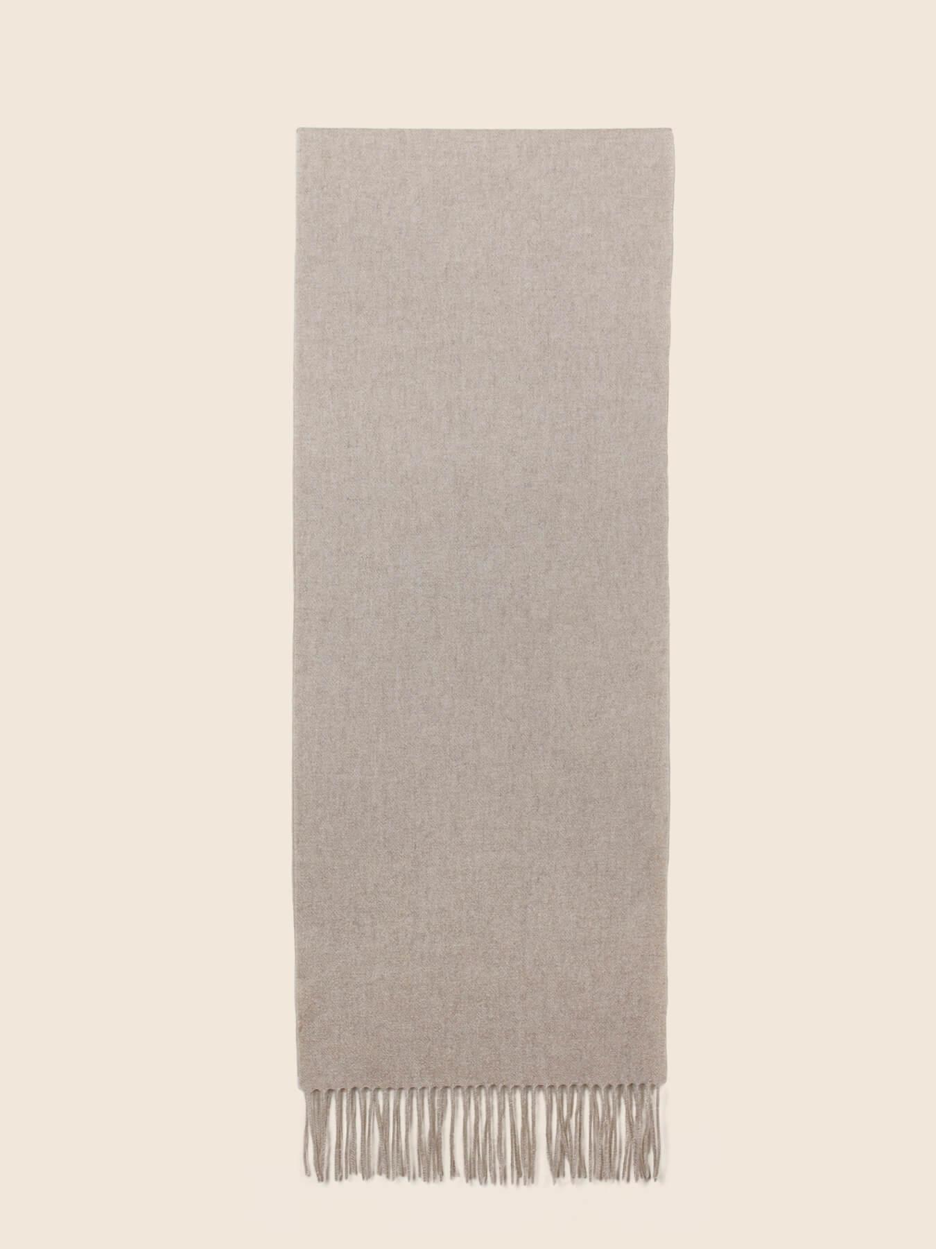 Classic Plain Cashmere Scarf Latte 2