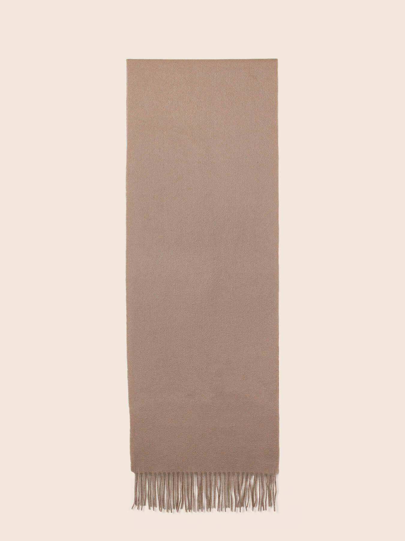 Classic Plain Cashmere Scarf Sand 2