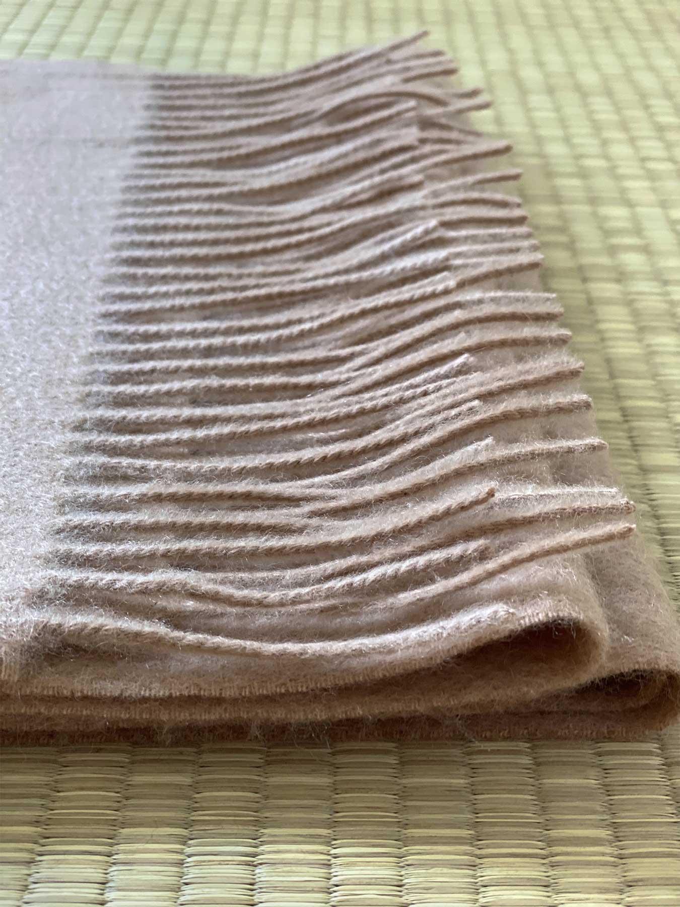 Classic Plain Cashmere Scarf Sand 5