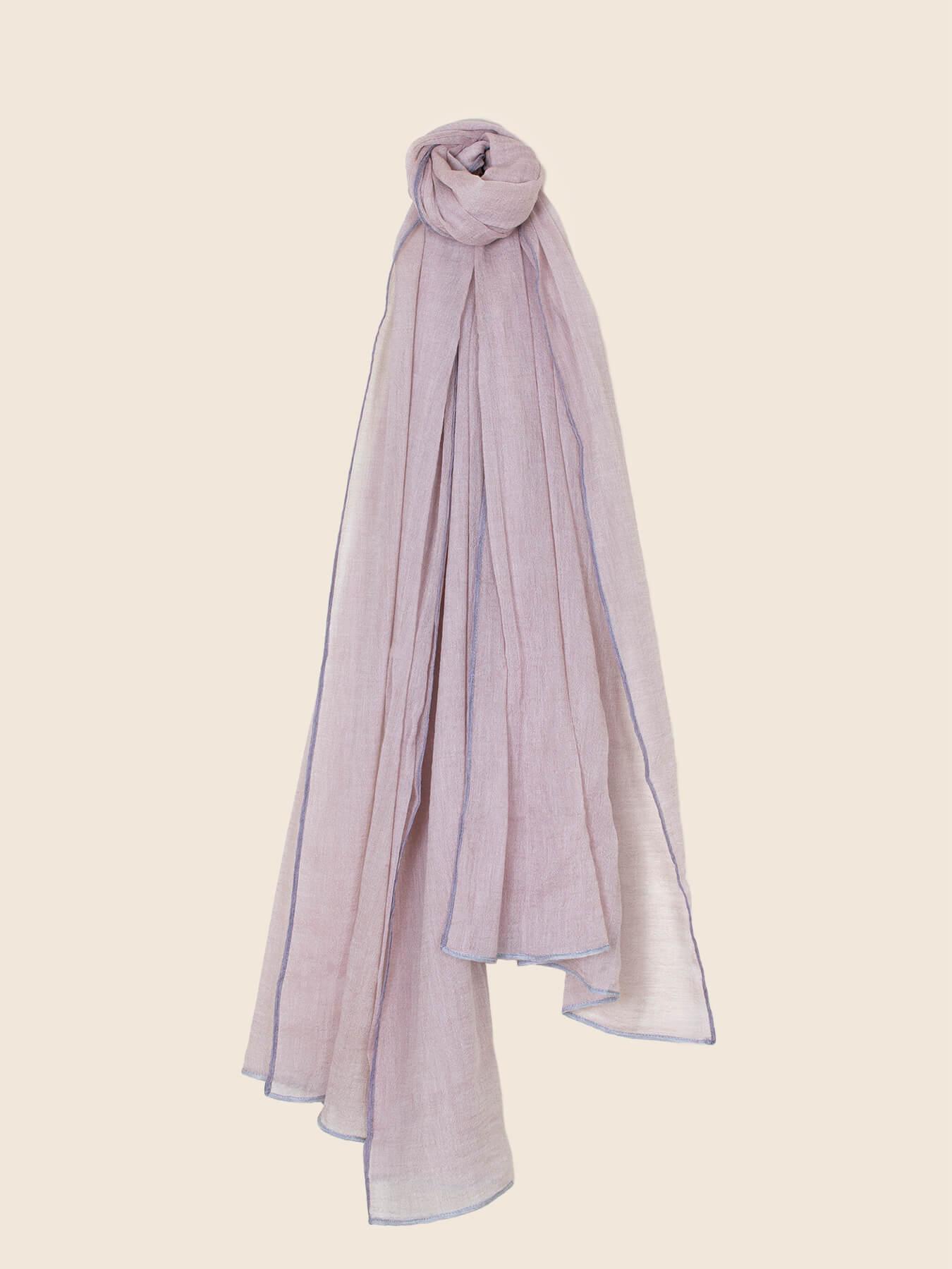 Crepe Wool Shawl Rose Ash 2