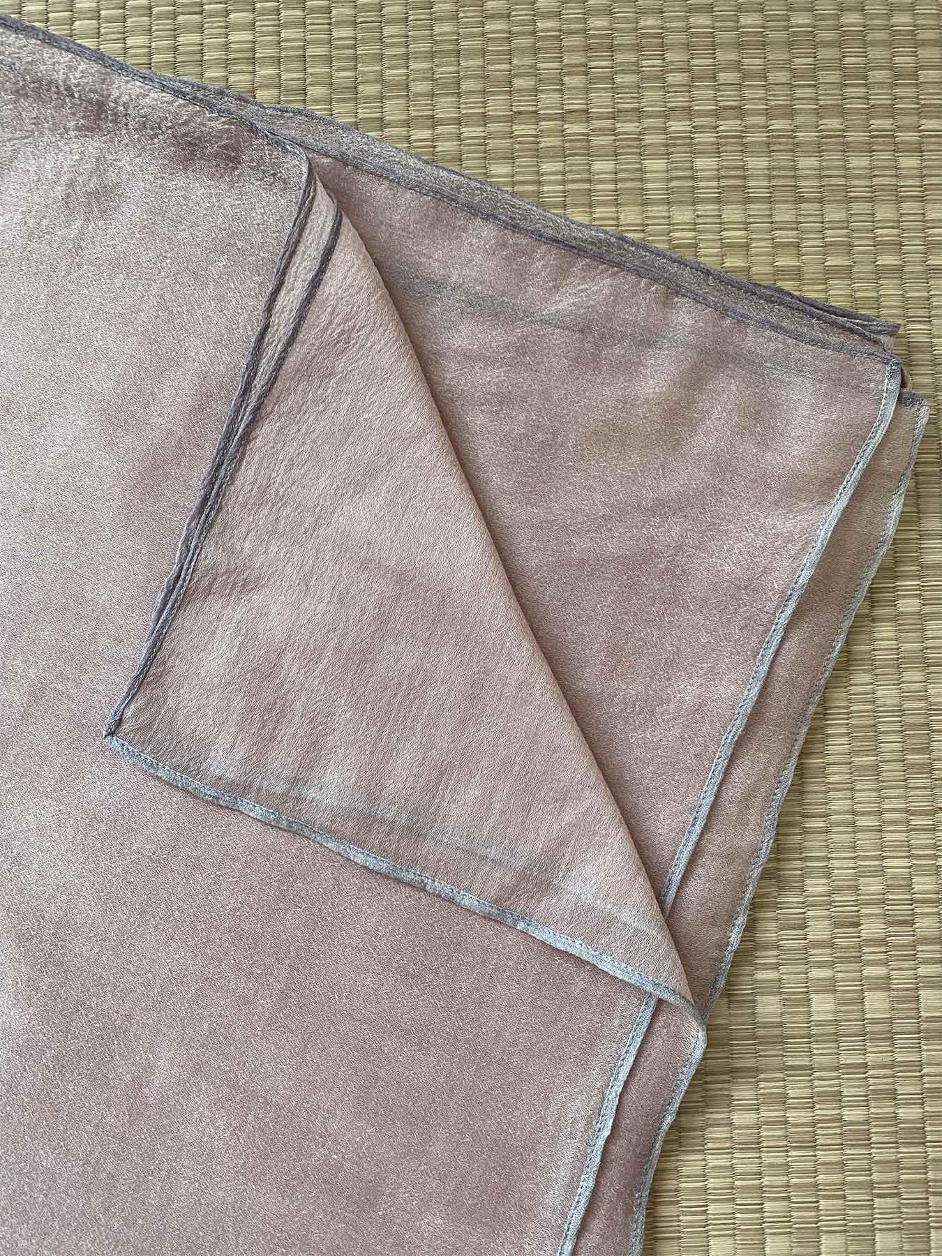 Crepe Wool Shawl Rose Ash 3