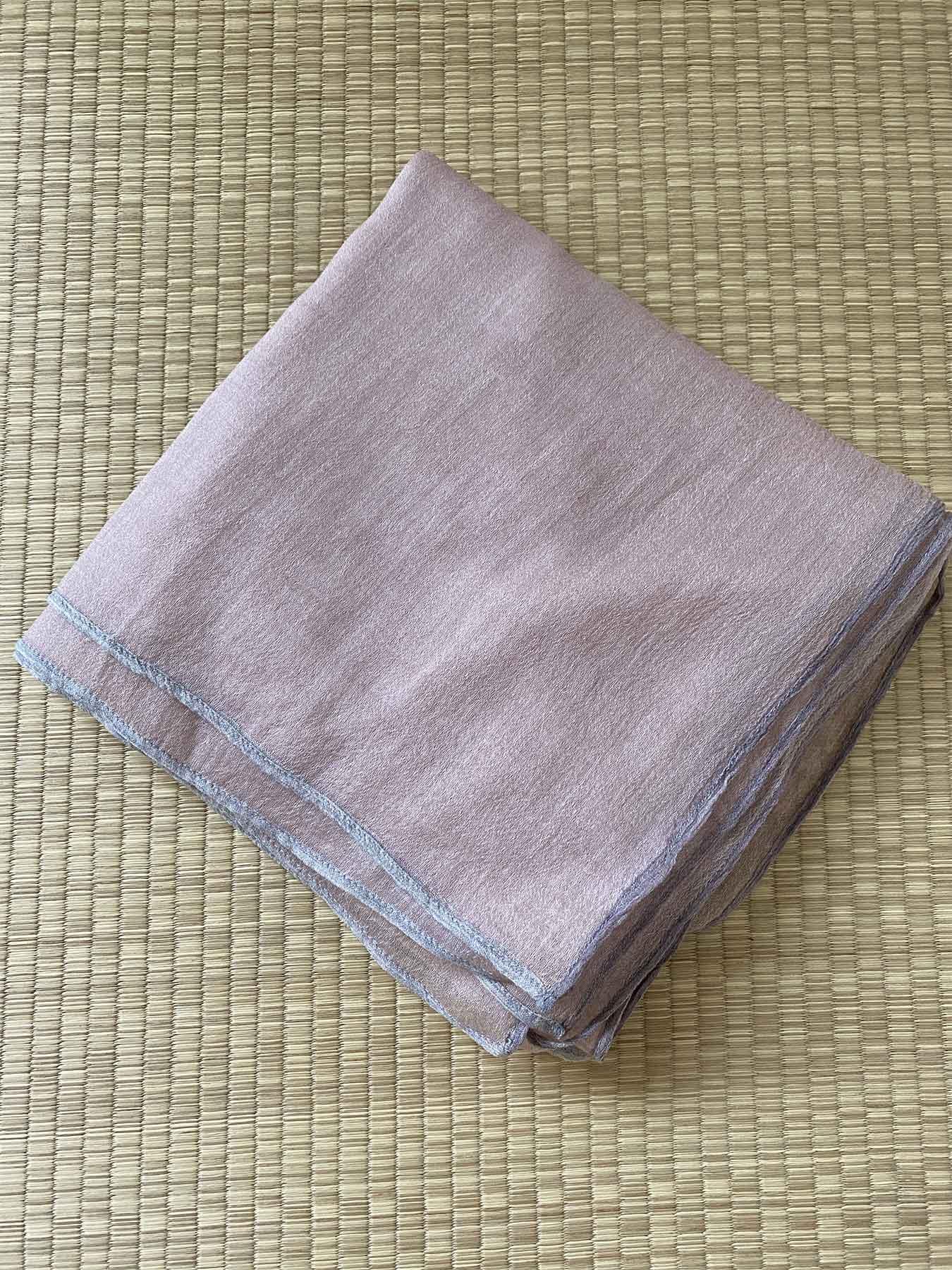 Crepe Wool Shawl Rose Ash 4