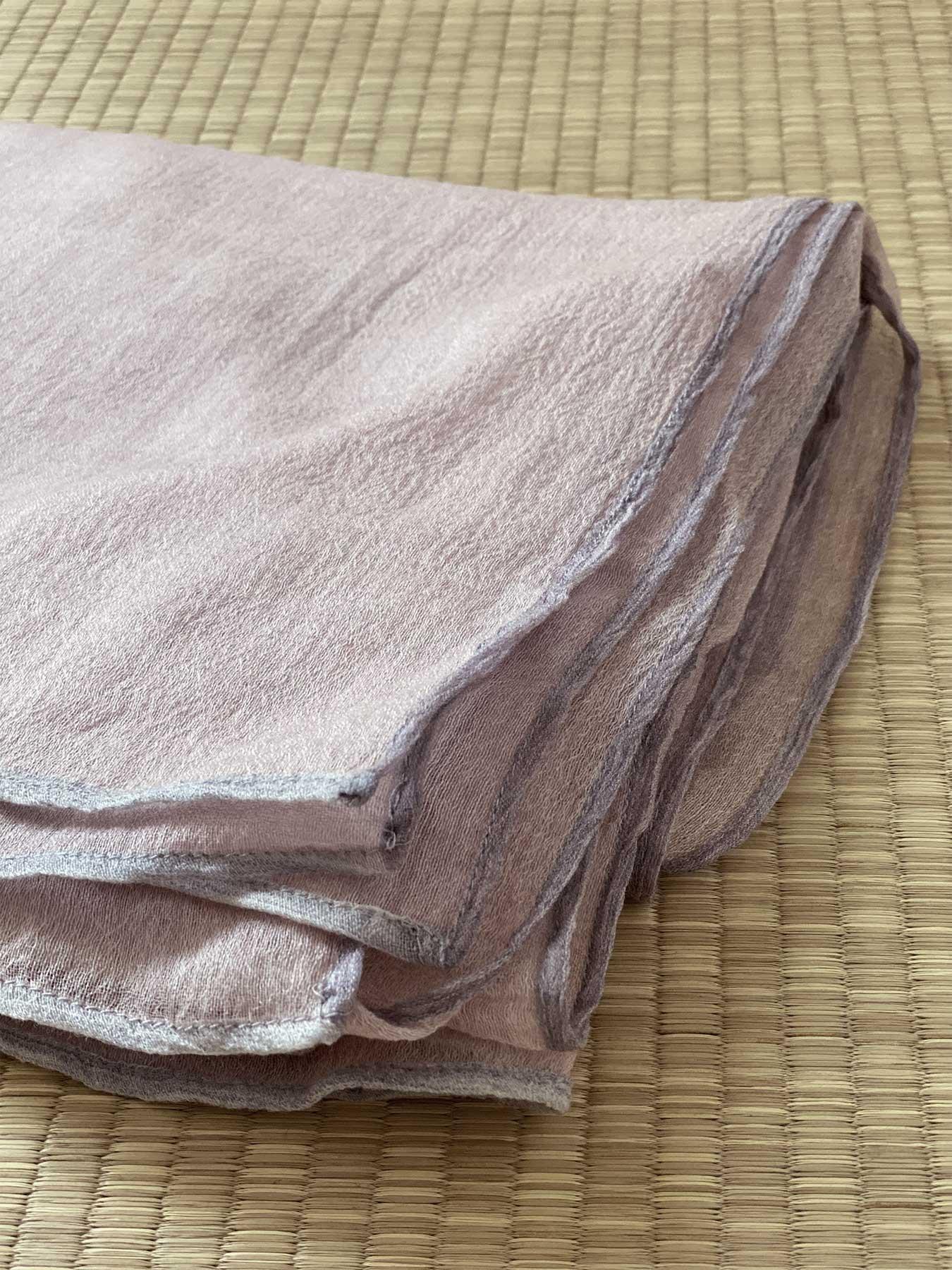 Crepe Wool Shawl Rose Ash 5