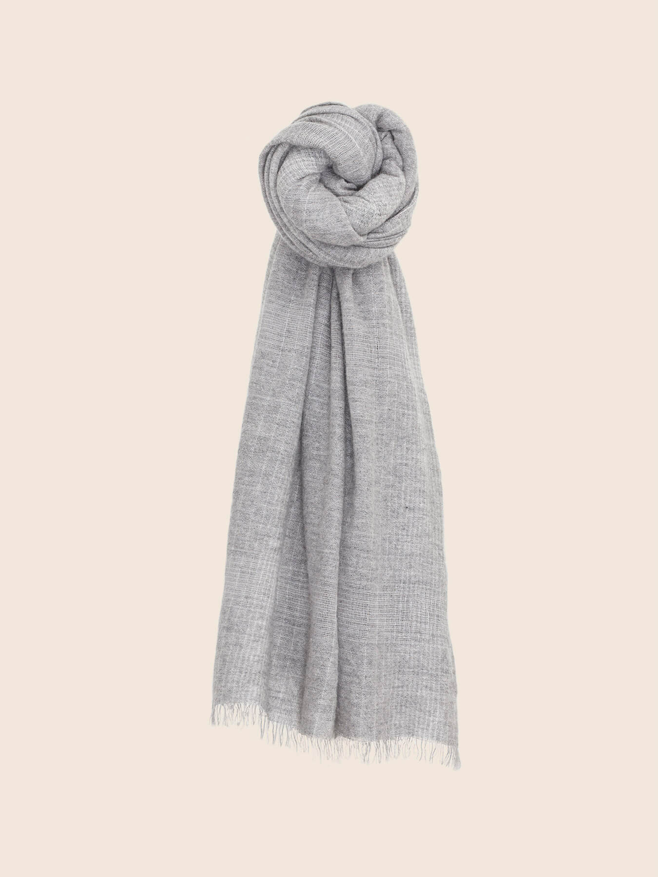 Essential Grey Cashmere Shawl 1