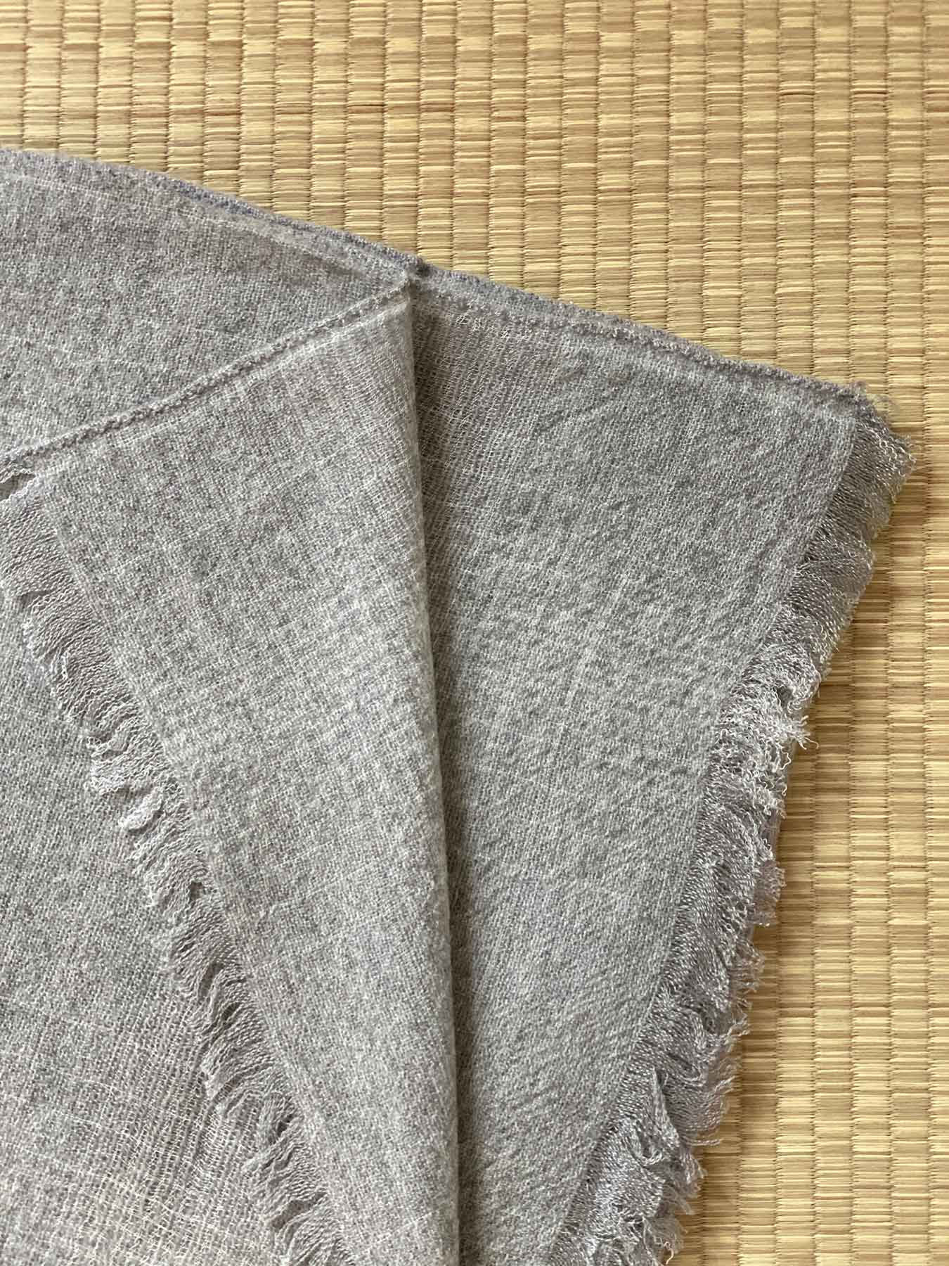 Essential Grey Cashmere Shawl 2