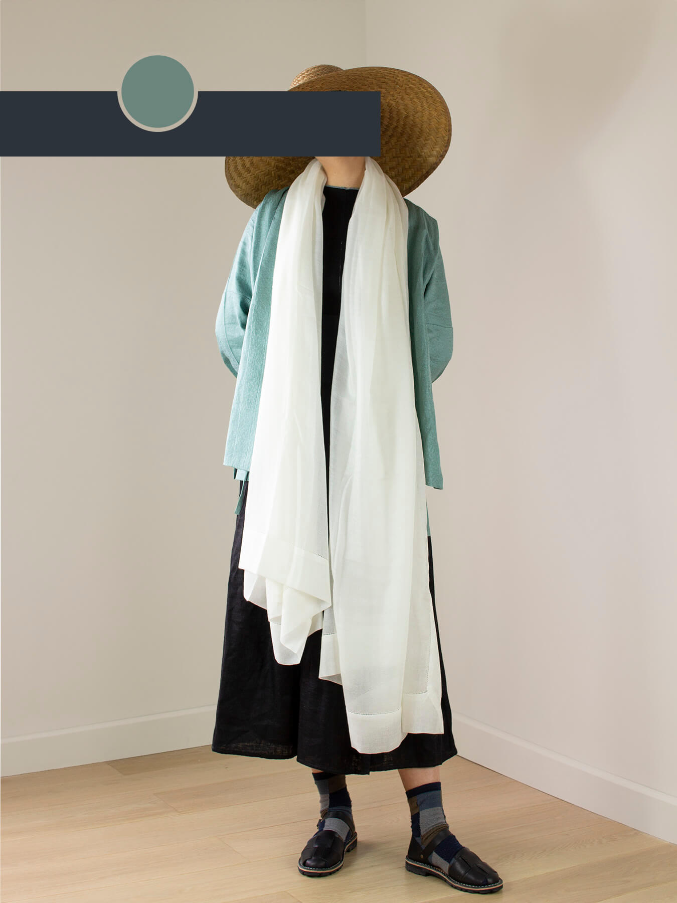 Feather Cashmere Wrap Ivory 1