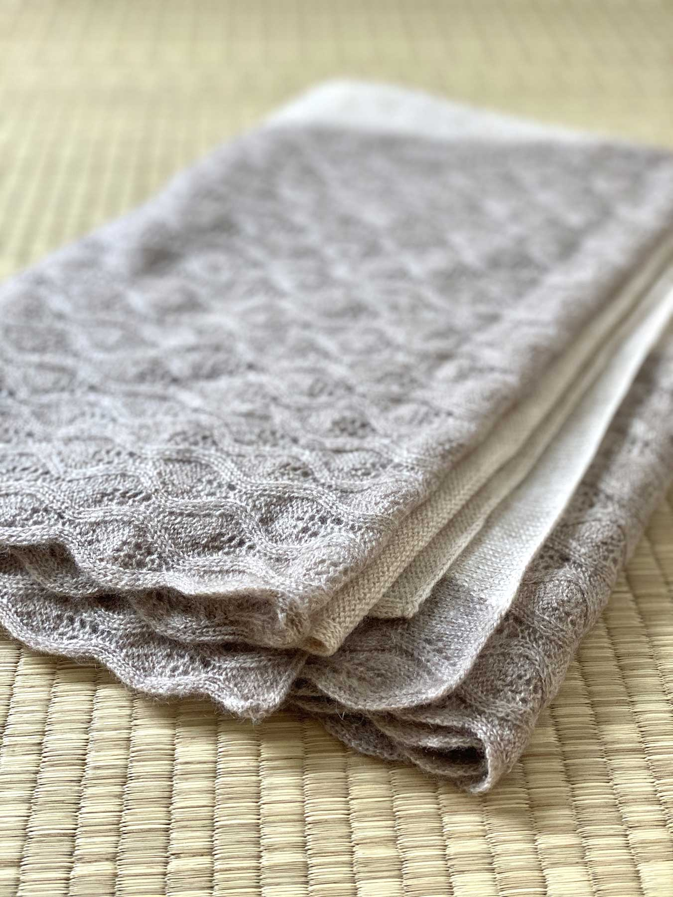 Lace Leaf Knitted Cashmere Scarf 5