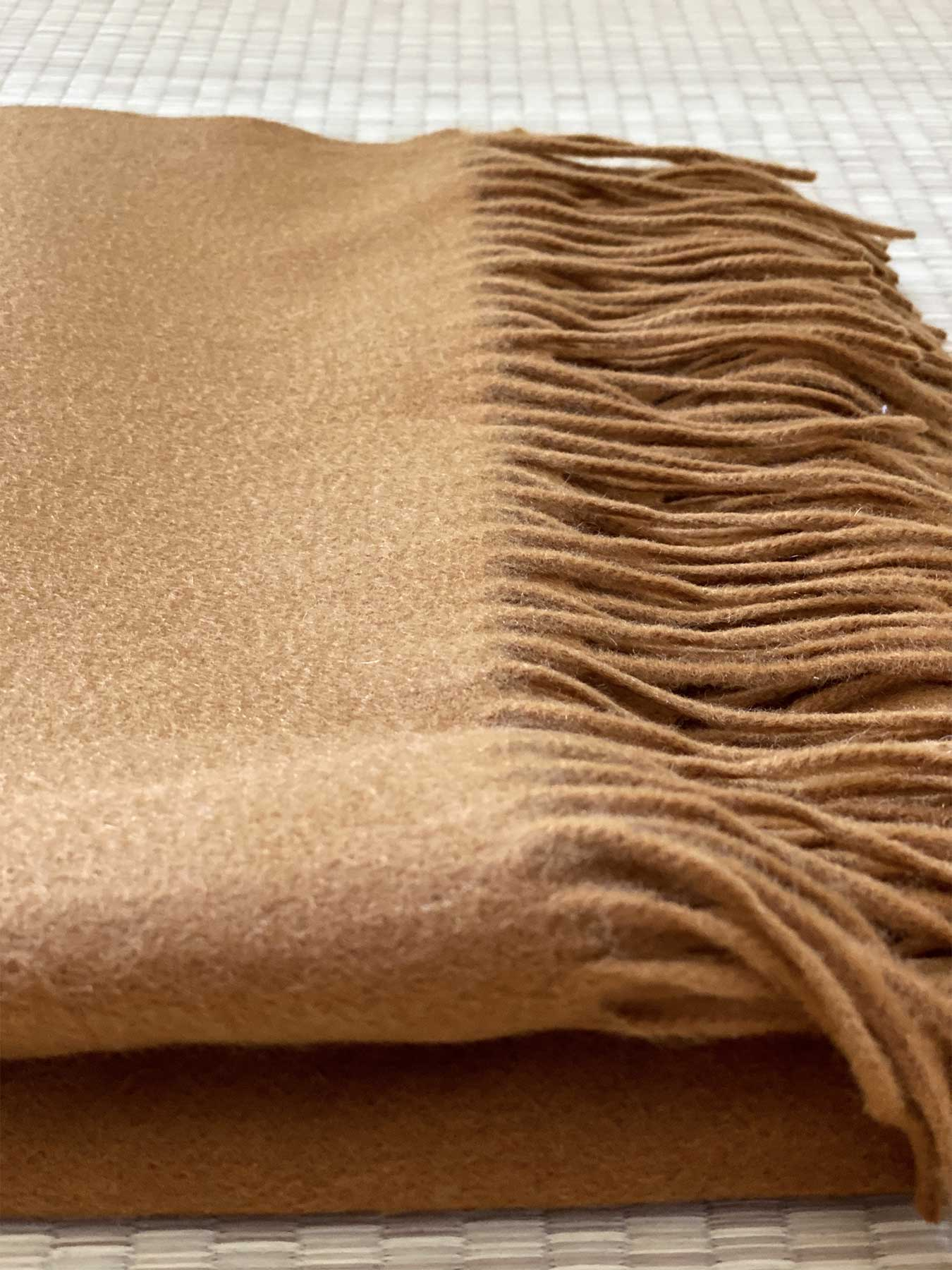 Staple Plain Cashmere Shawl Mustard 3