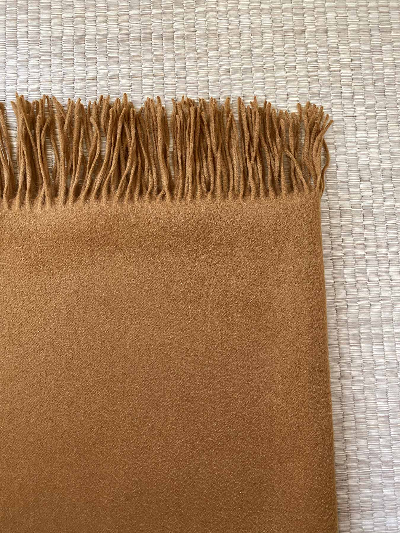 Staple Plain Cashmere Shawl Mustard 5