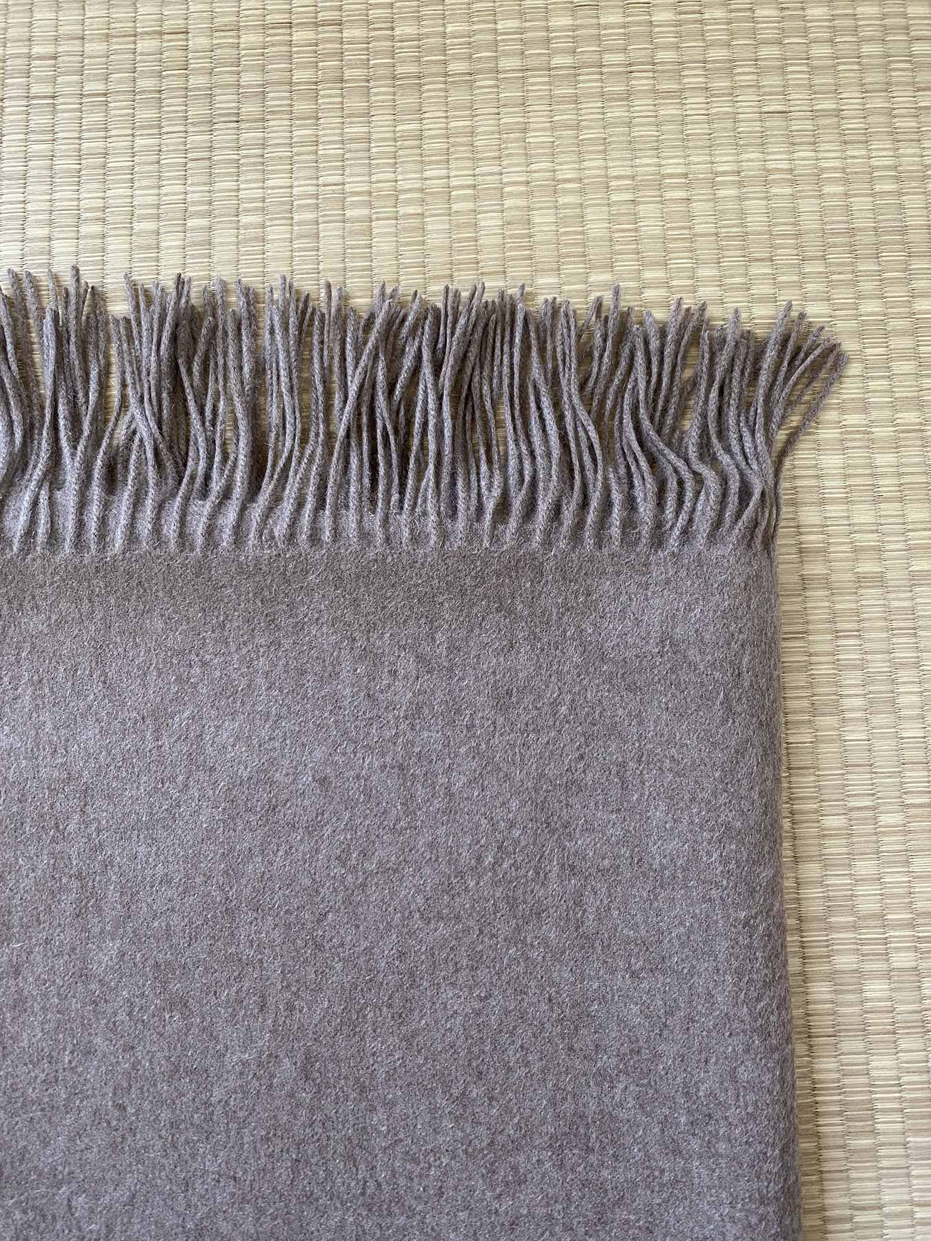 Staple Plain Cashmere Shawl Taupe 3