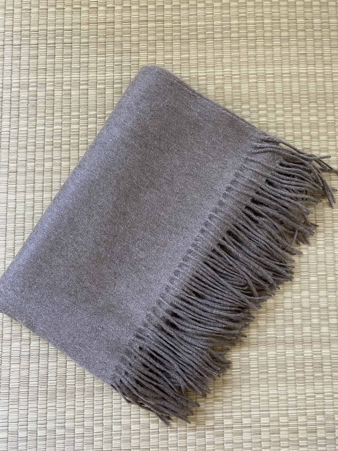 Staple Plain Cashmere Shawl Taupe 4