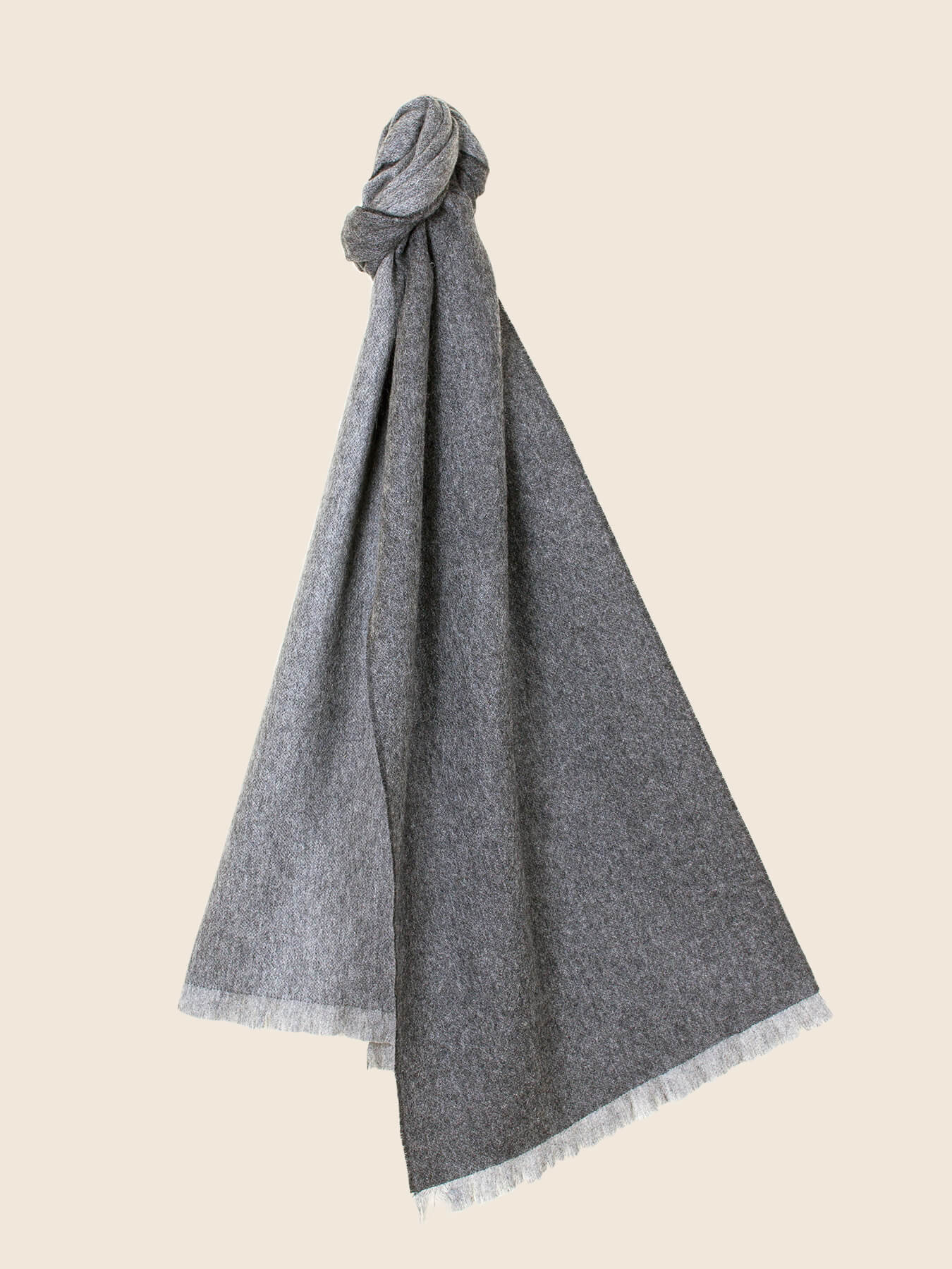 Timeless Reversible Cashmere Scarf Charcoal 1