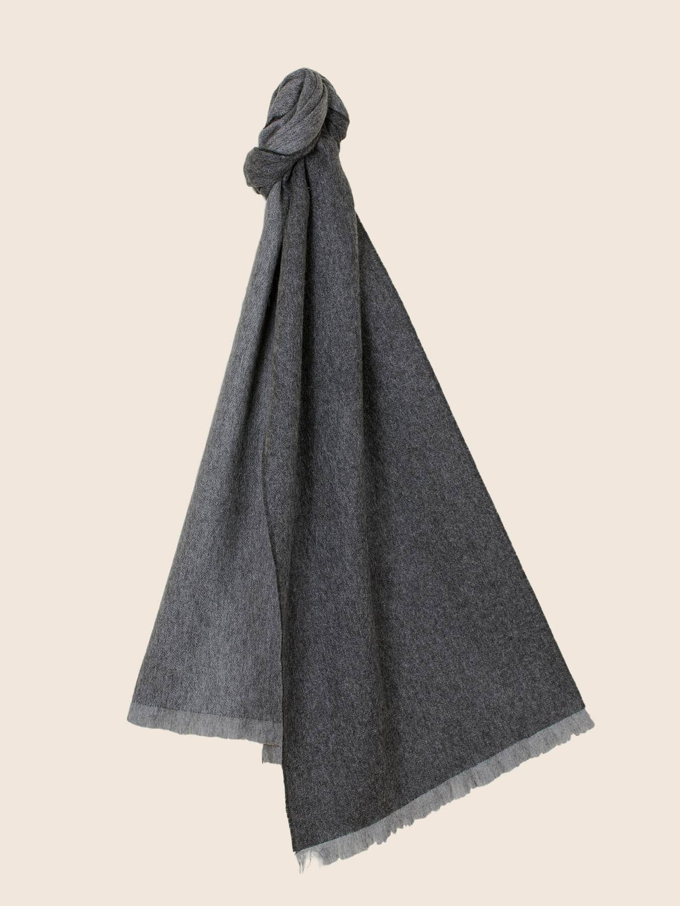 Timeless Reversible Cashmere Scarf Charcoal 12