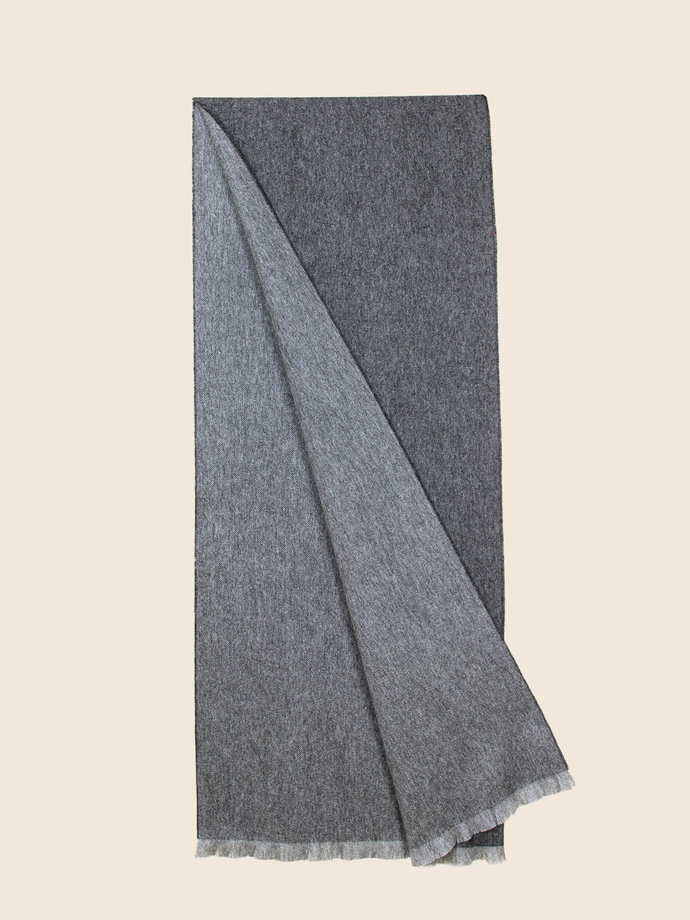 Timeless Reversible Cashmere Scarf Charcoal 2
