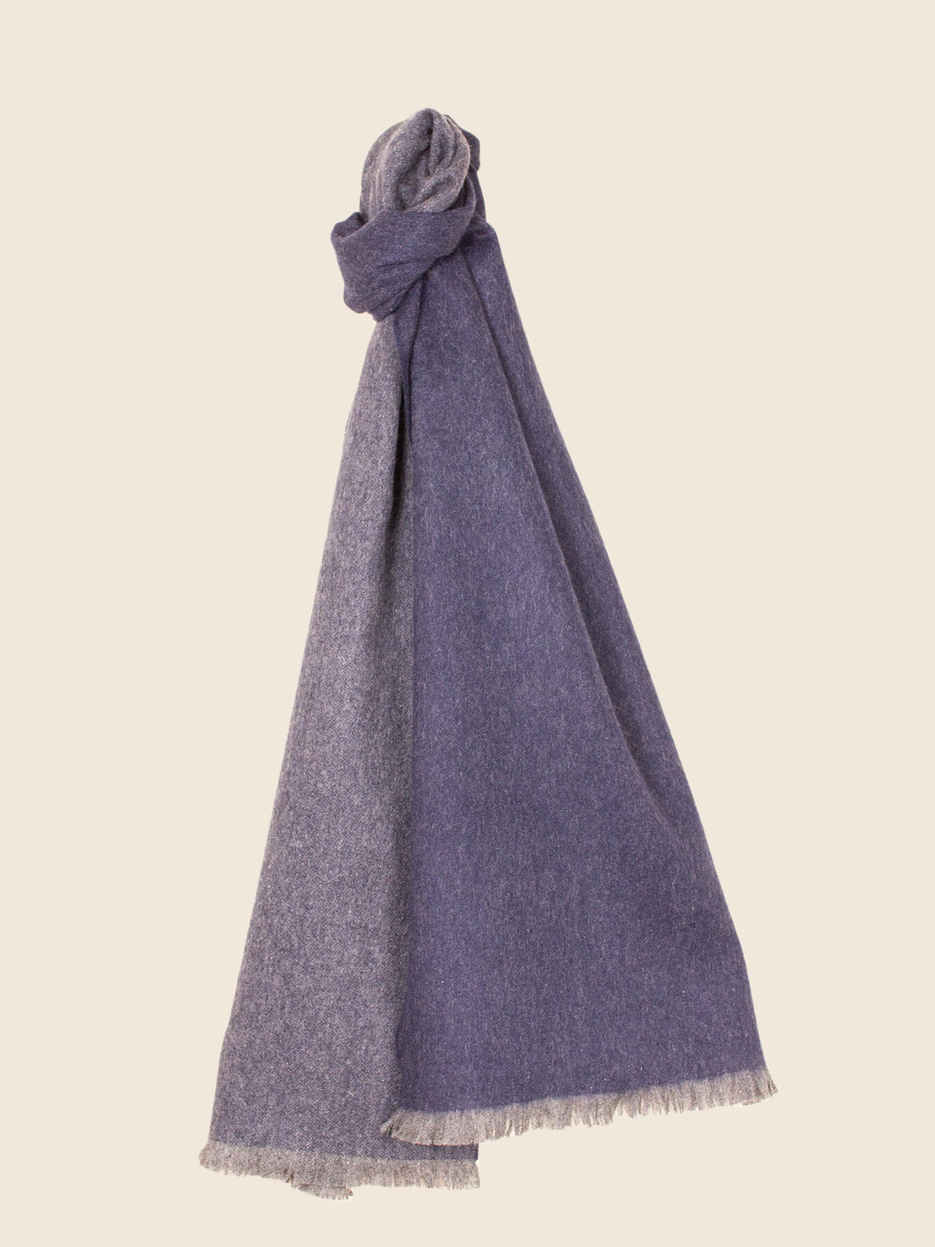 Timeless Reversible Cashmere Scarf Eggplant 1