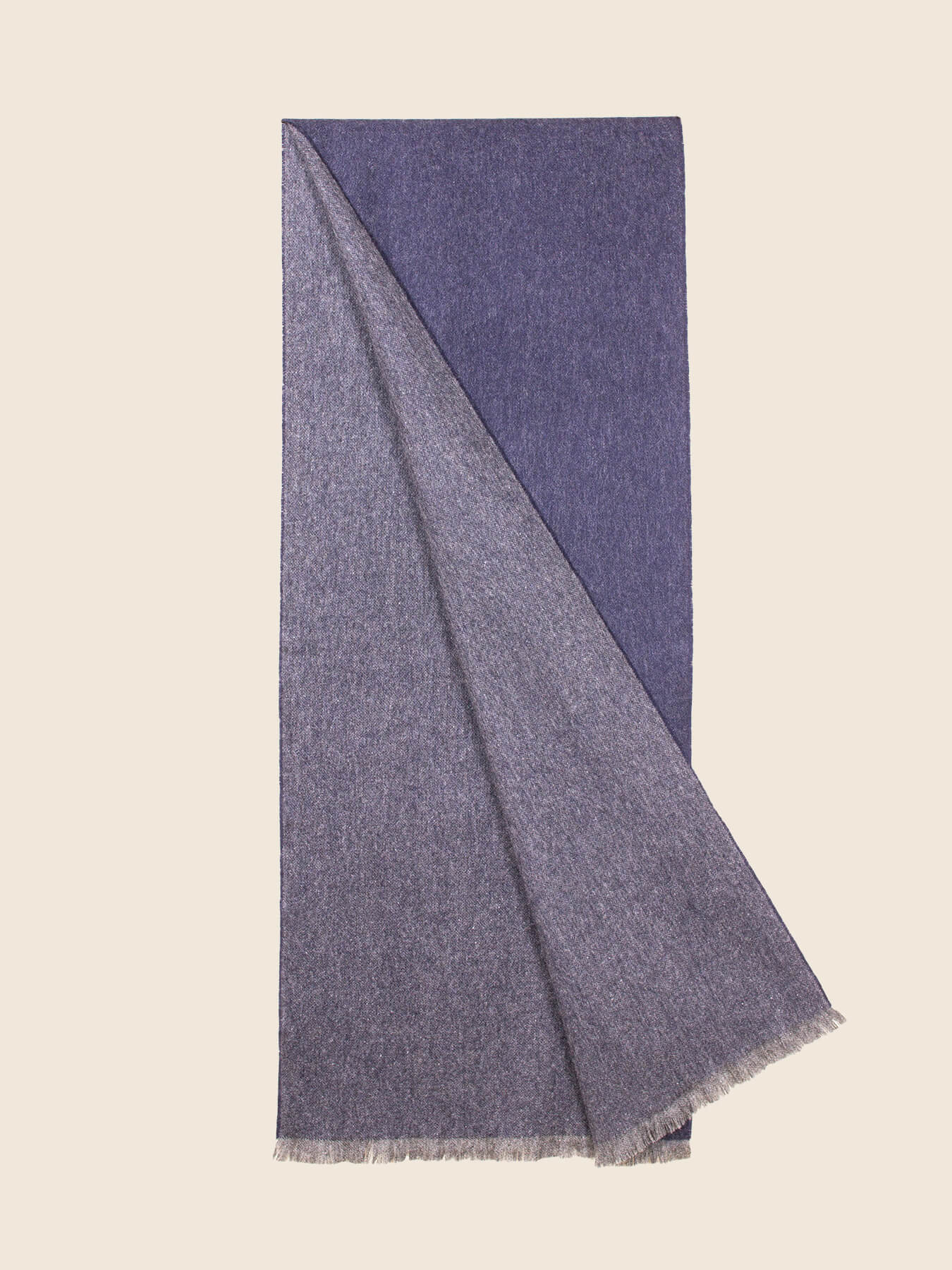 Timeless Reversible Cashmere Scarf Eggplant 2