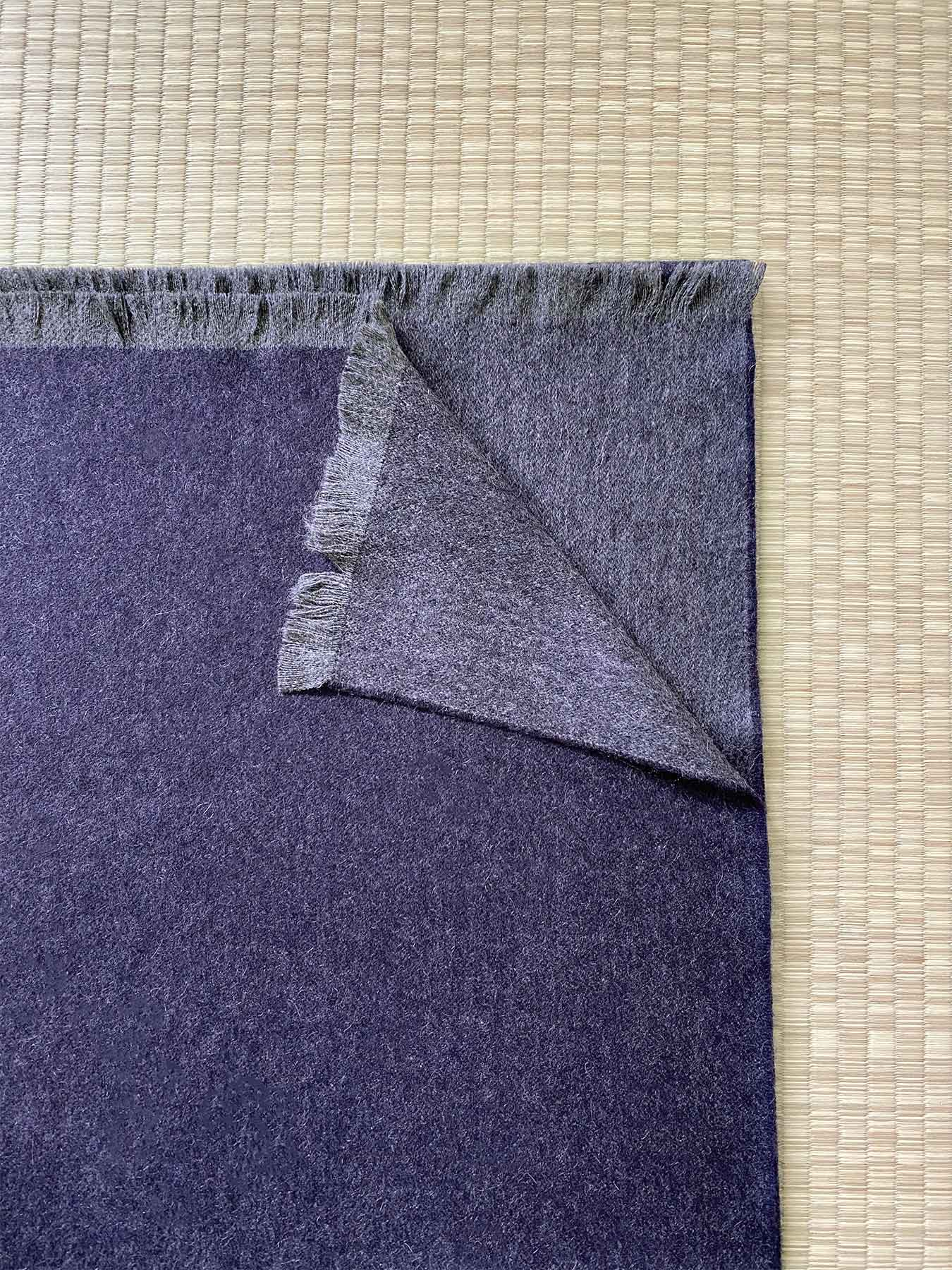 Timeless Reversible Cashmere Scarf Eggplant 3