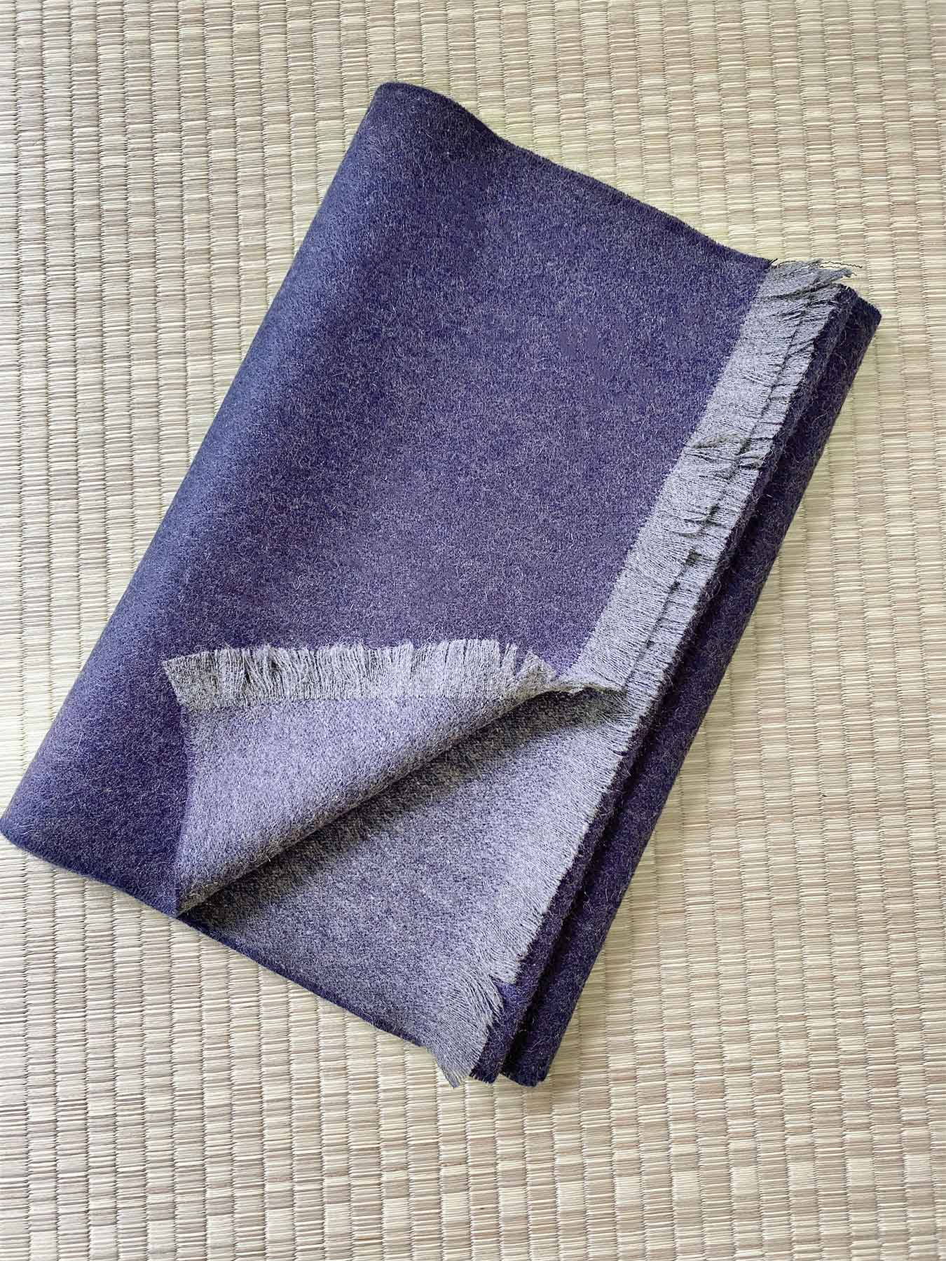 Timeless Reversible Cashmere Scarf Eggplant 4