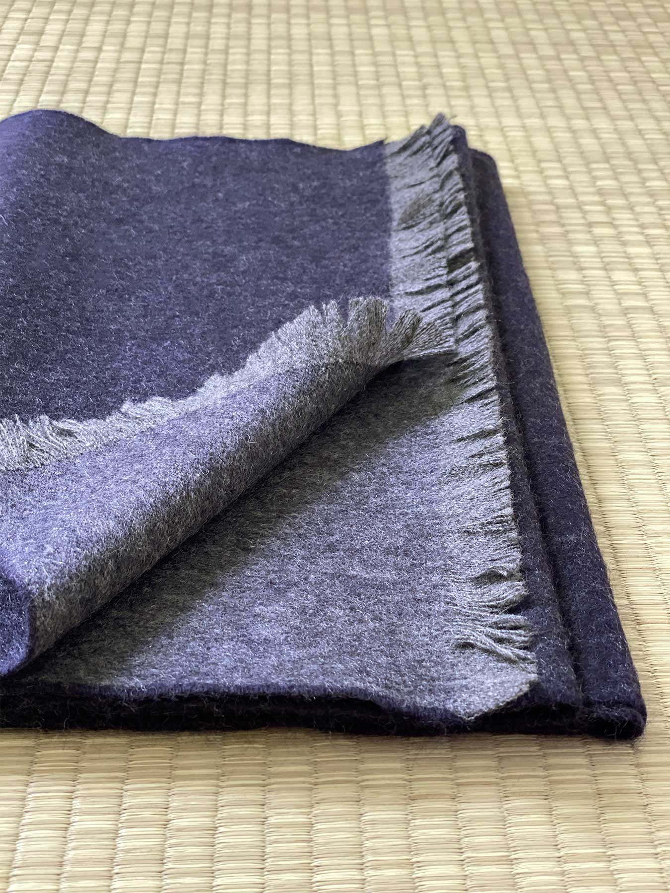 Timeless Reversible Cashmere Scarf Eggplant 5