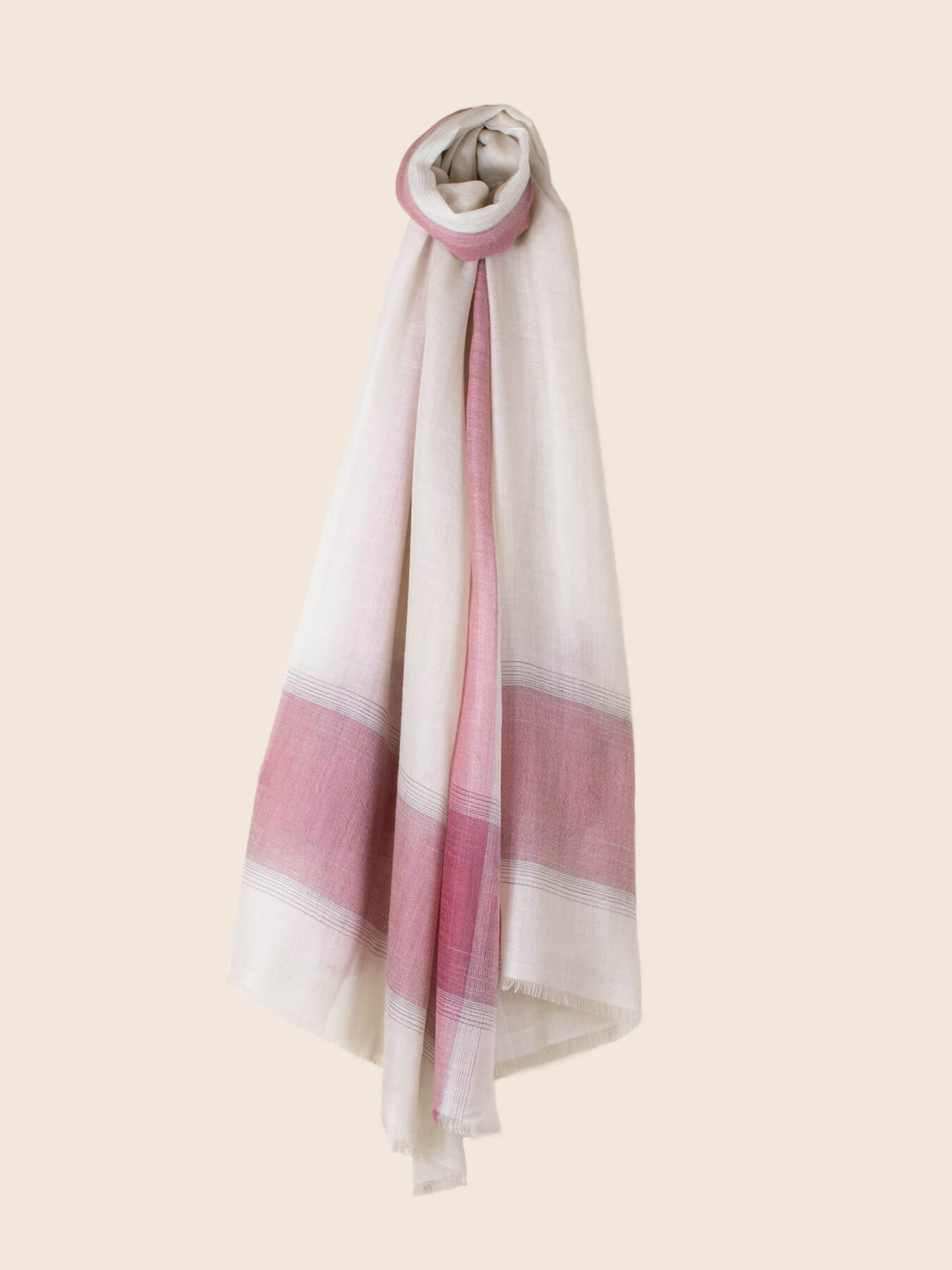 Semi-sheer Cashmere Scarf Rose Pink 1