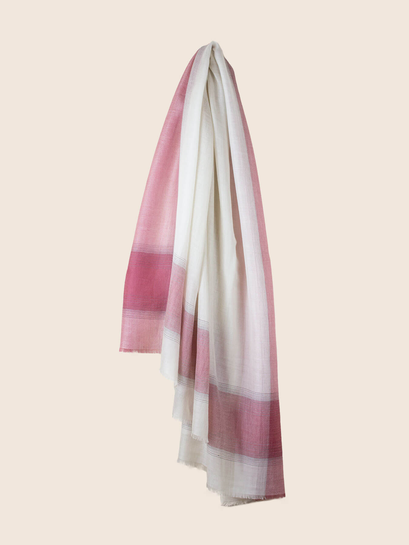 Semi-sheer Cashmere Scarf Rose Pink 2