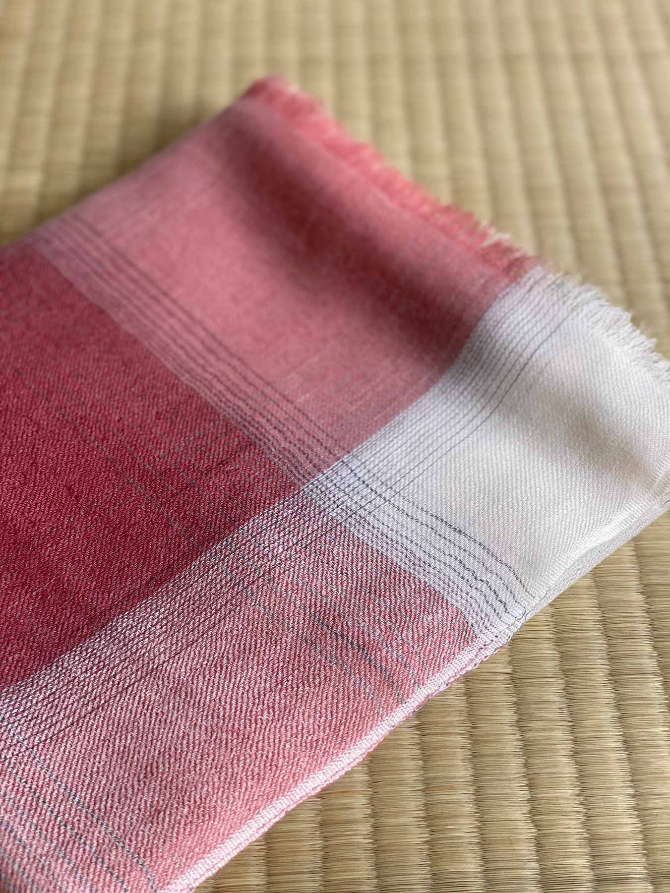 Semi-sheer Cashmere Scarf Rose Pink 6