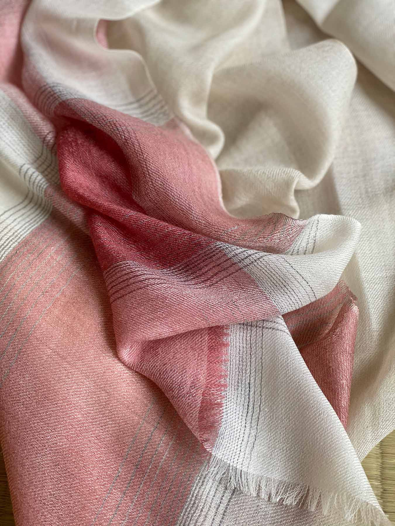 Semi-sheer Cashmere Scarf Rose Pink 8