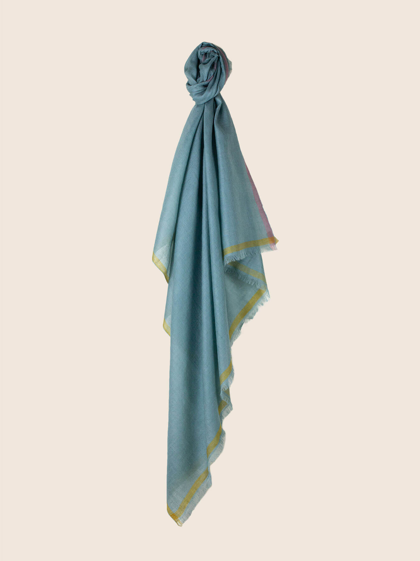 Superfine Cashmere Square Scarf Teal 1