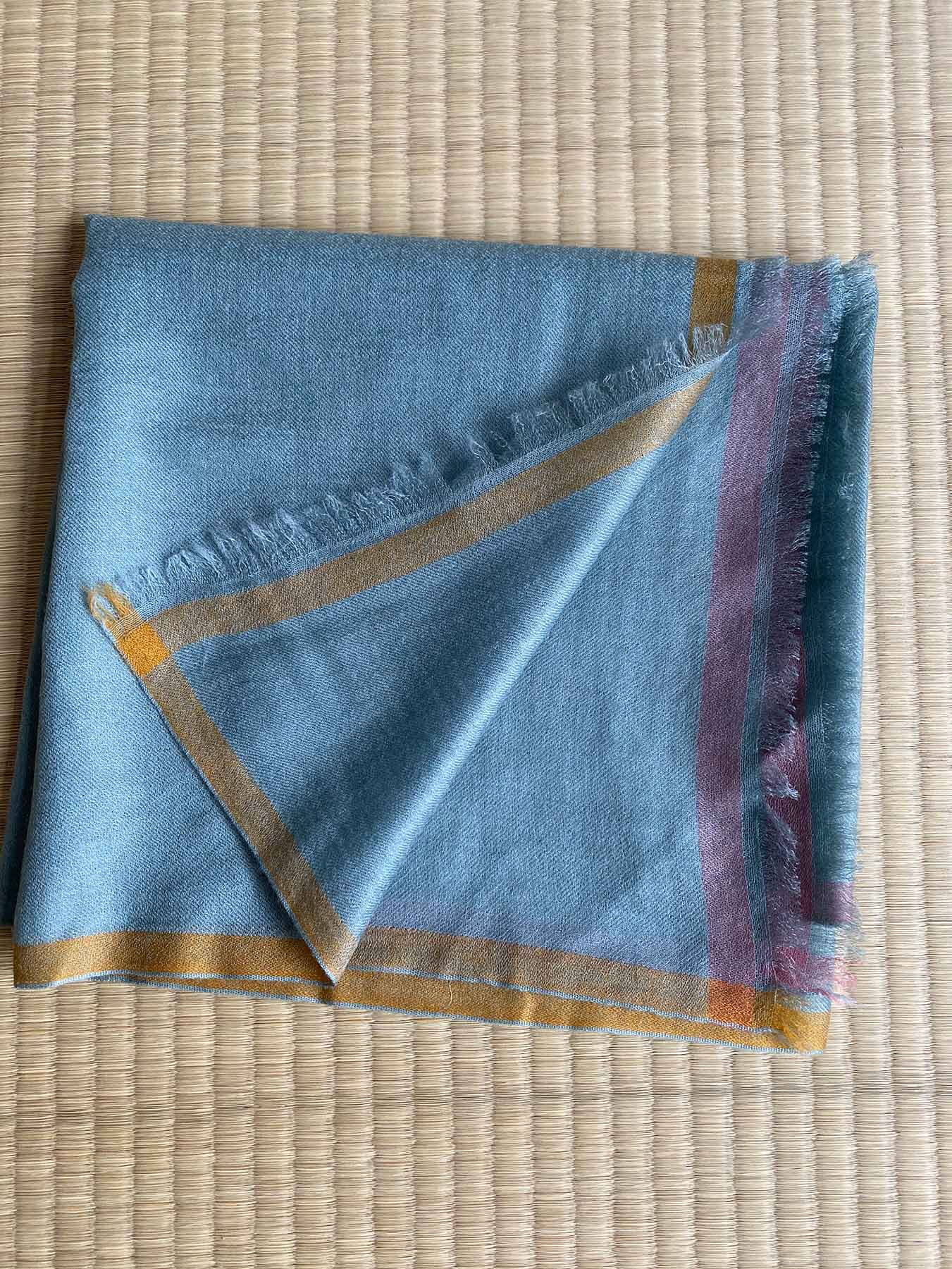 Superfine Cashmere Square Scarf Teal 2