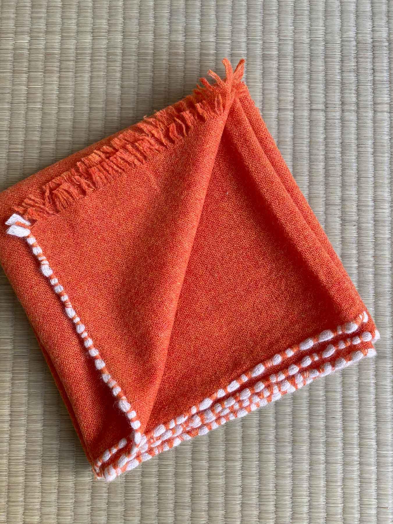 Weaver Cashmere Scarf Blood Orange 2