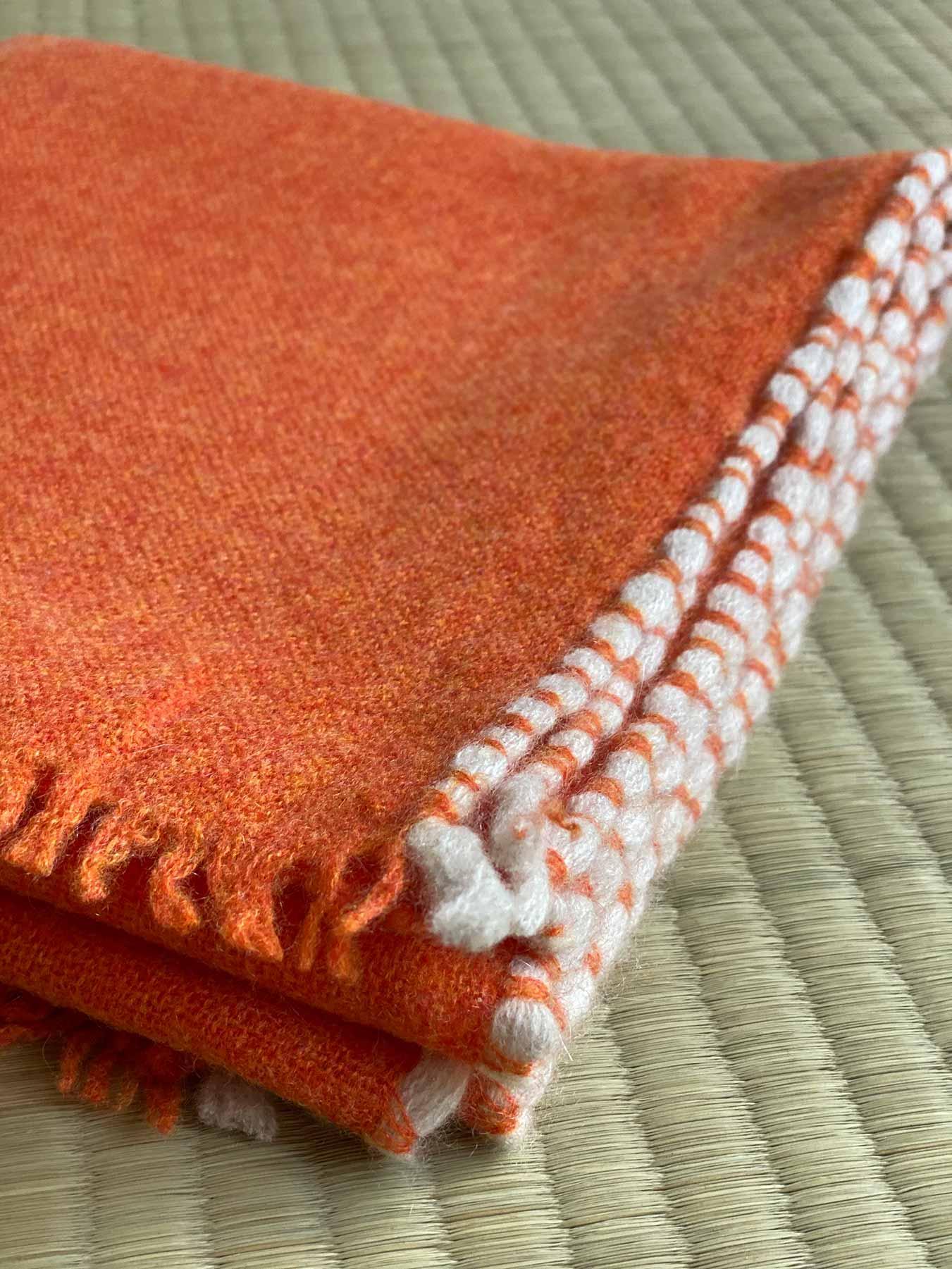 Weaver Cashmere Scarf Blood Orange 3