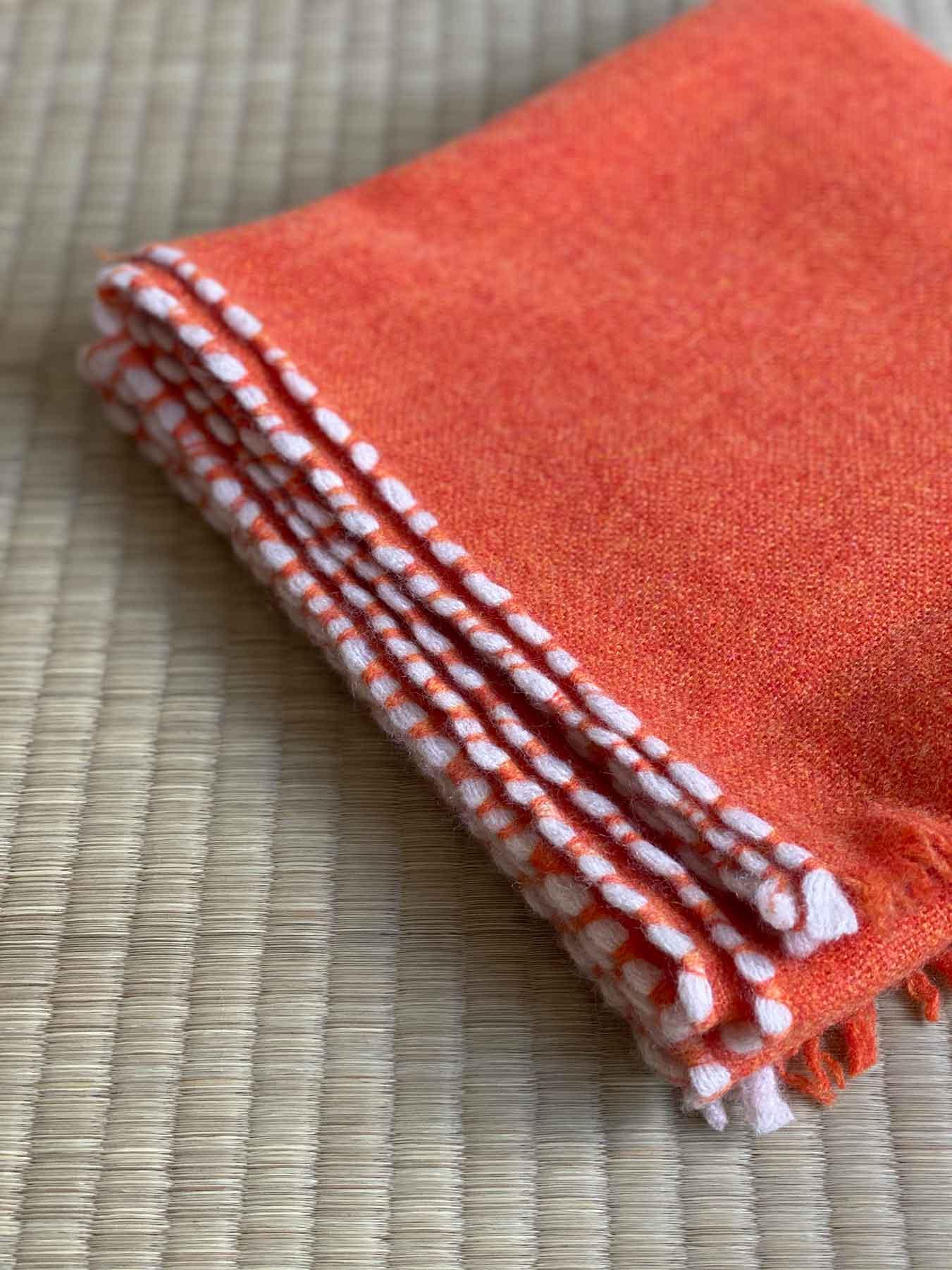 Weaver Cashmere Scarf Blood Orange 4