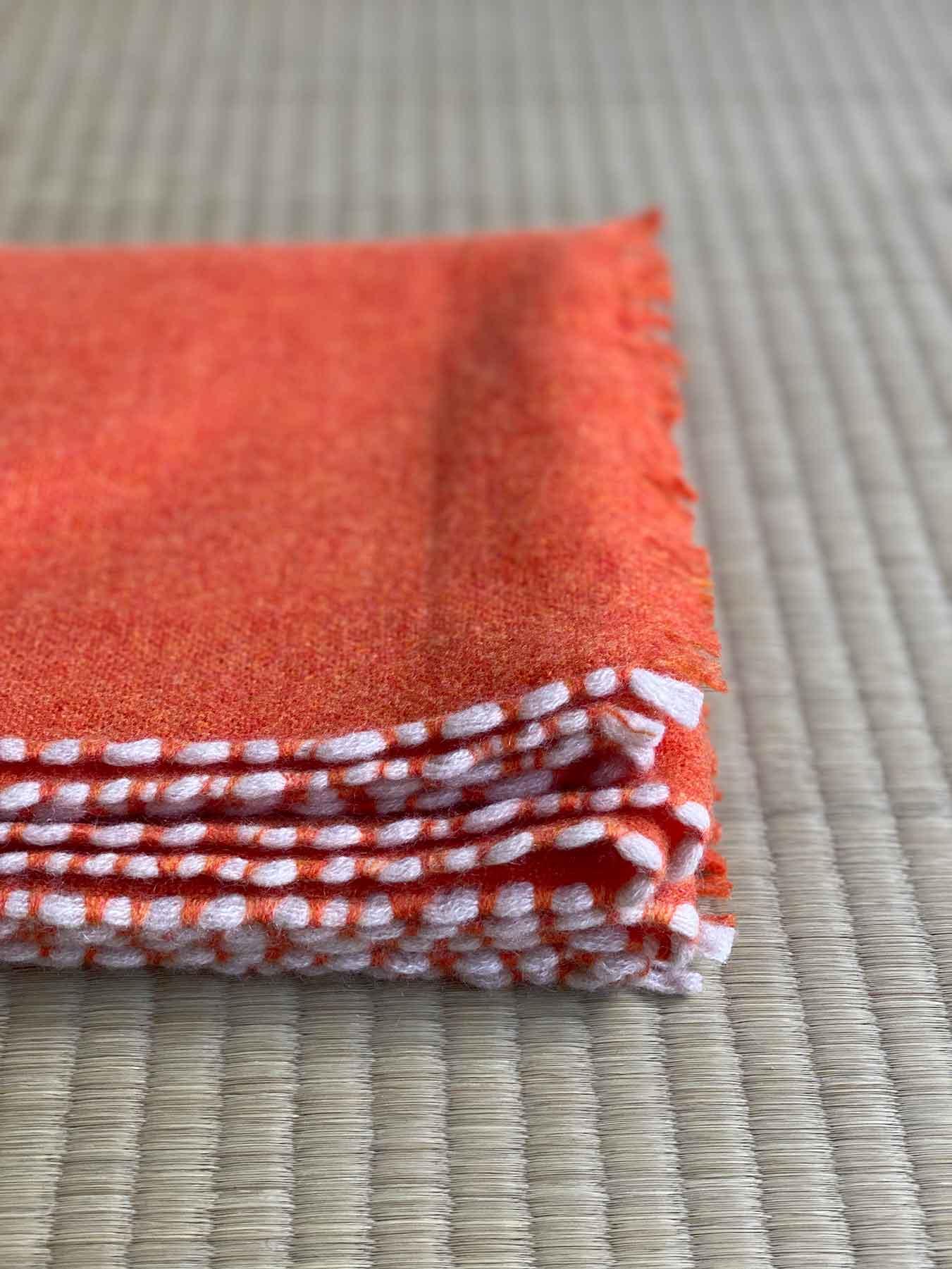 Weaver Cashmere Scarf Blood Orange 6
