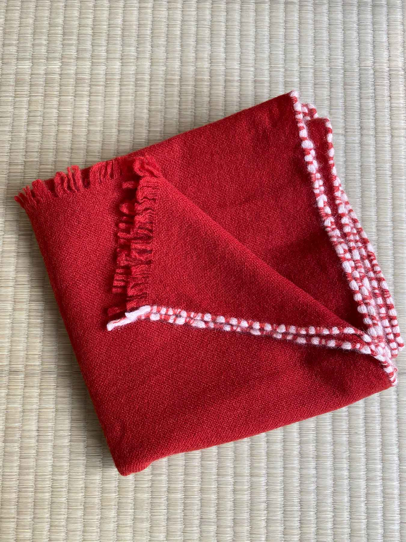 Weaver Cashmere Scarf Brick Red 2
