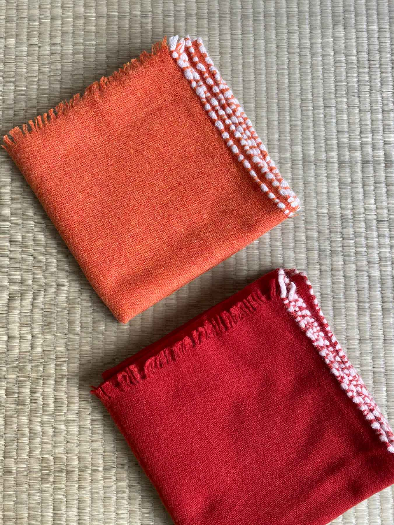 Weaver Cashmere Scarf Brick Red 4
