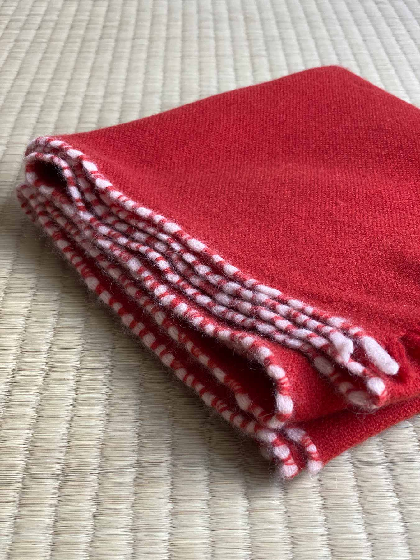 Weaver Cashmere Scarf Brick Red 5