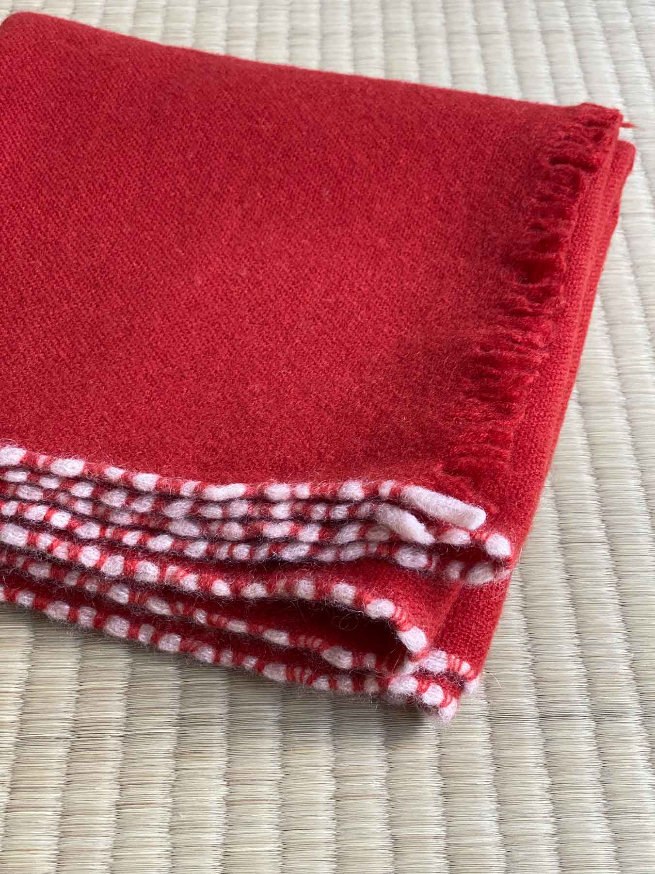 Weaver Cashmere Scarf Brick Red 6
