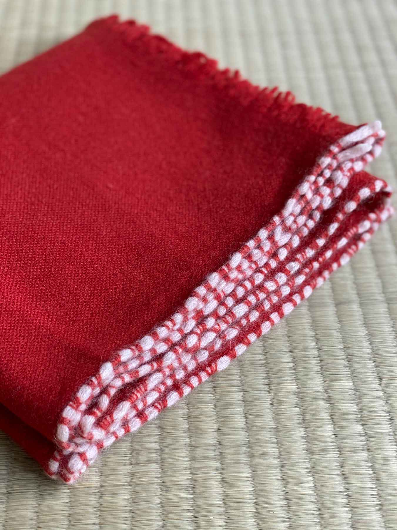 Weaver Cashmere Scarf Brick Red 7