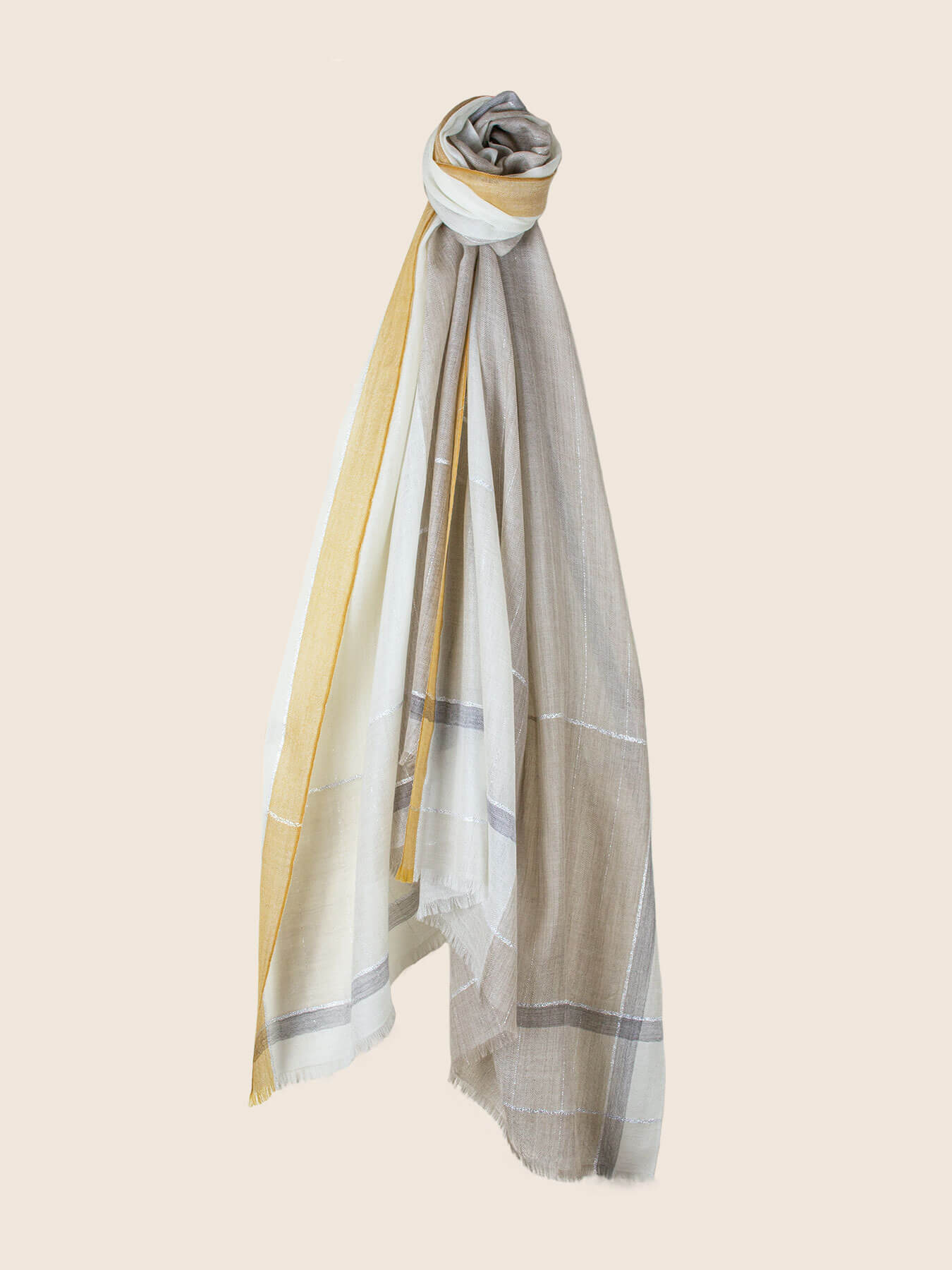 Willowy Cashmere Scarf Melon Yellow 1