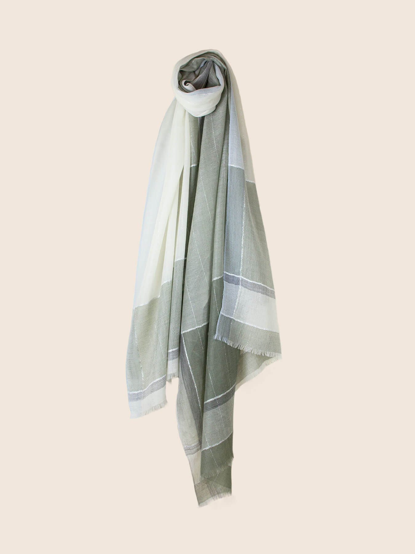 Willowy Cashmere Scarf Sage Green 1