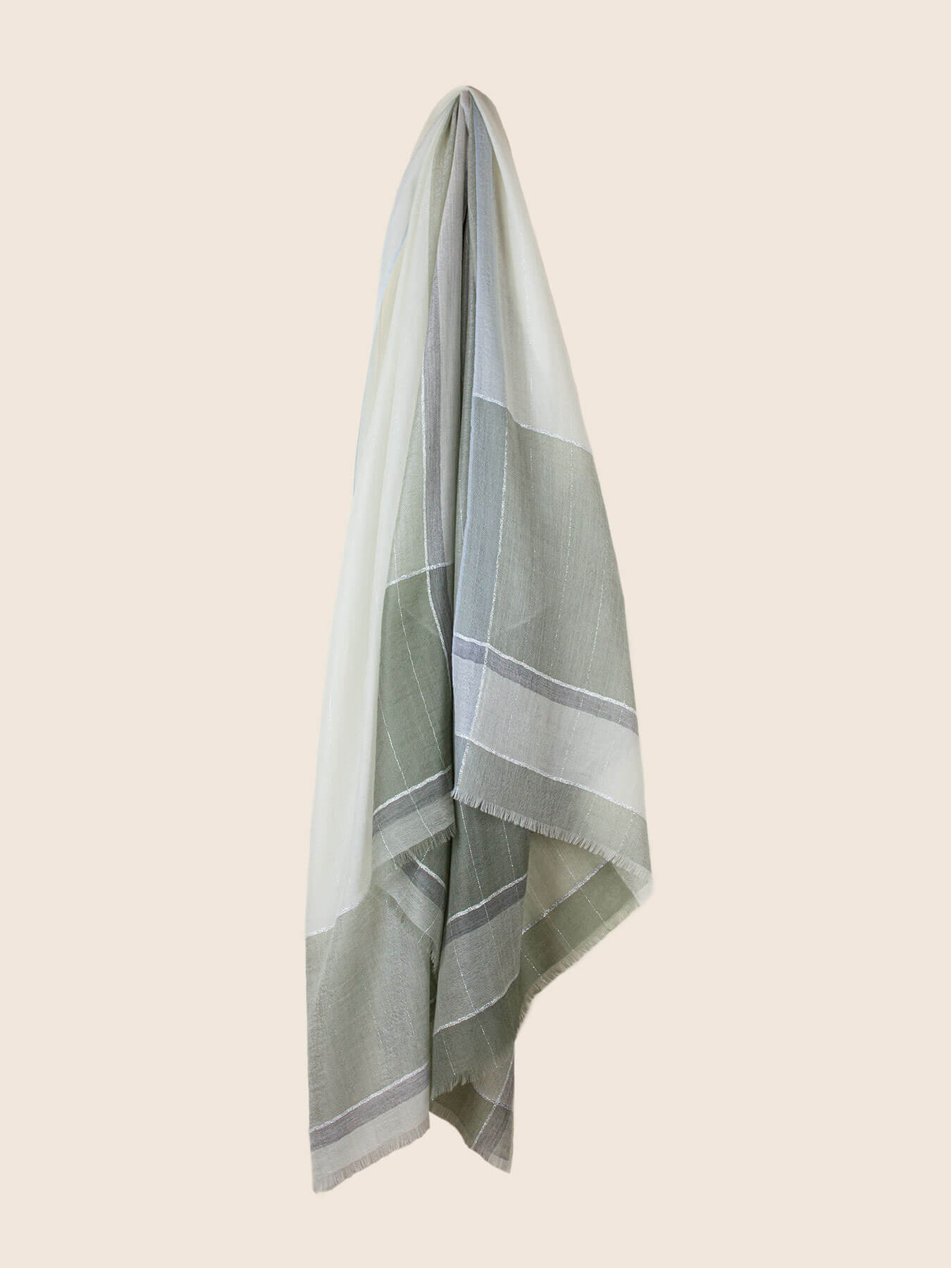 Willowy Cashmere Scarf Sage Green 2